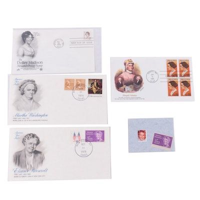 United States First Lady First Day Cover Postage Stamps
