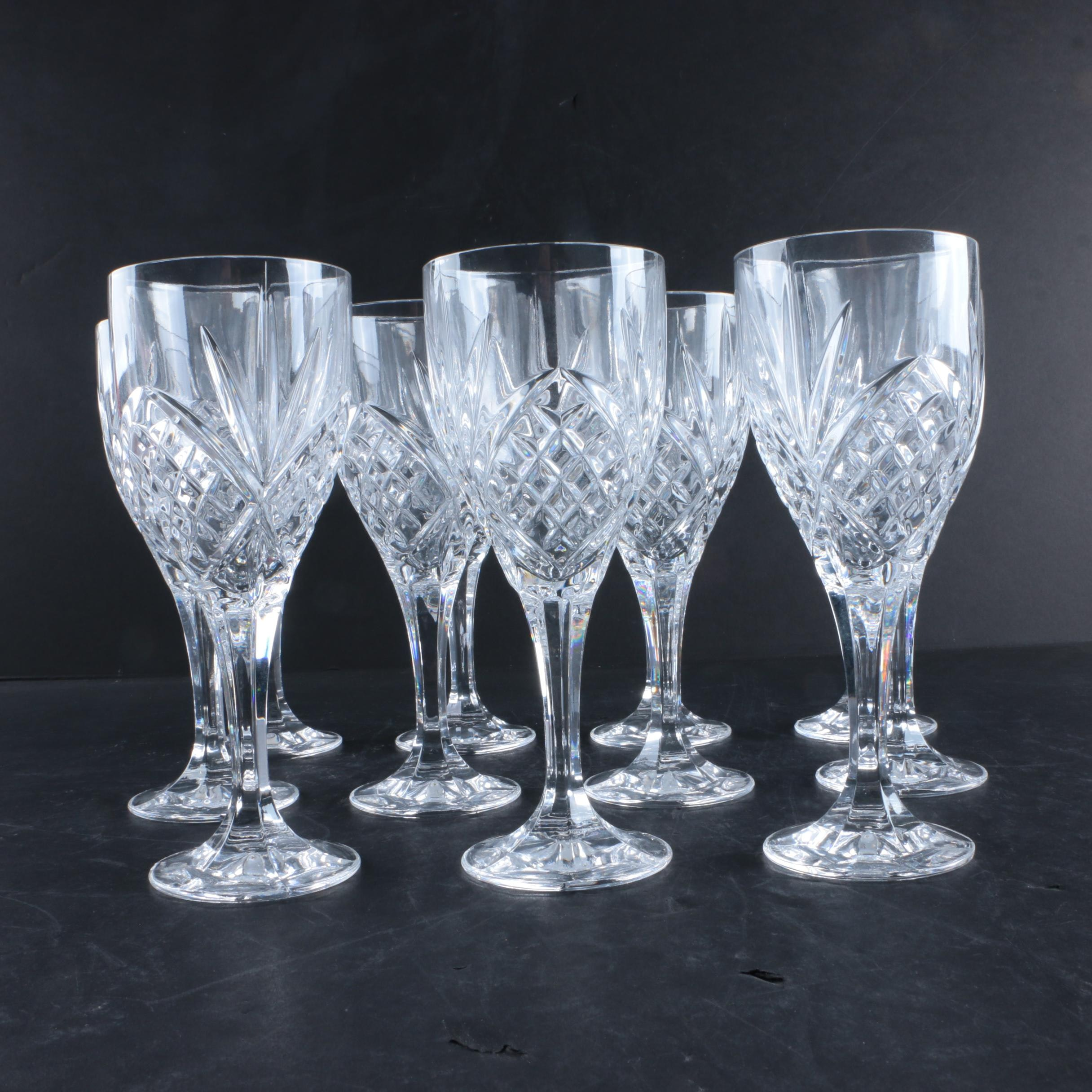 Collection of Pressed Crystal Stemware
