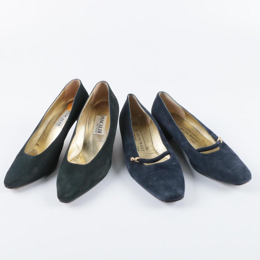 c48696a24ac Women s Vintage Blue Suede Heels Including Bruno Magli   EBTH