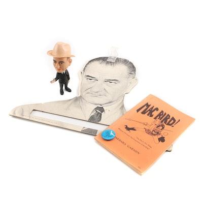 Lyndon B. Johnson Presidential Memorabilia with Anti-LBJ Satirical