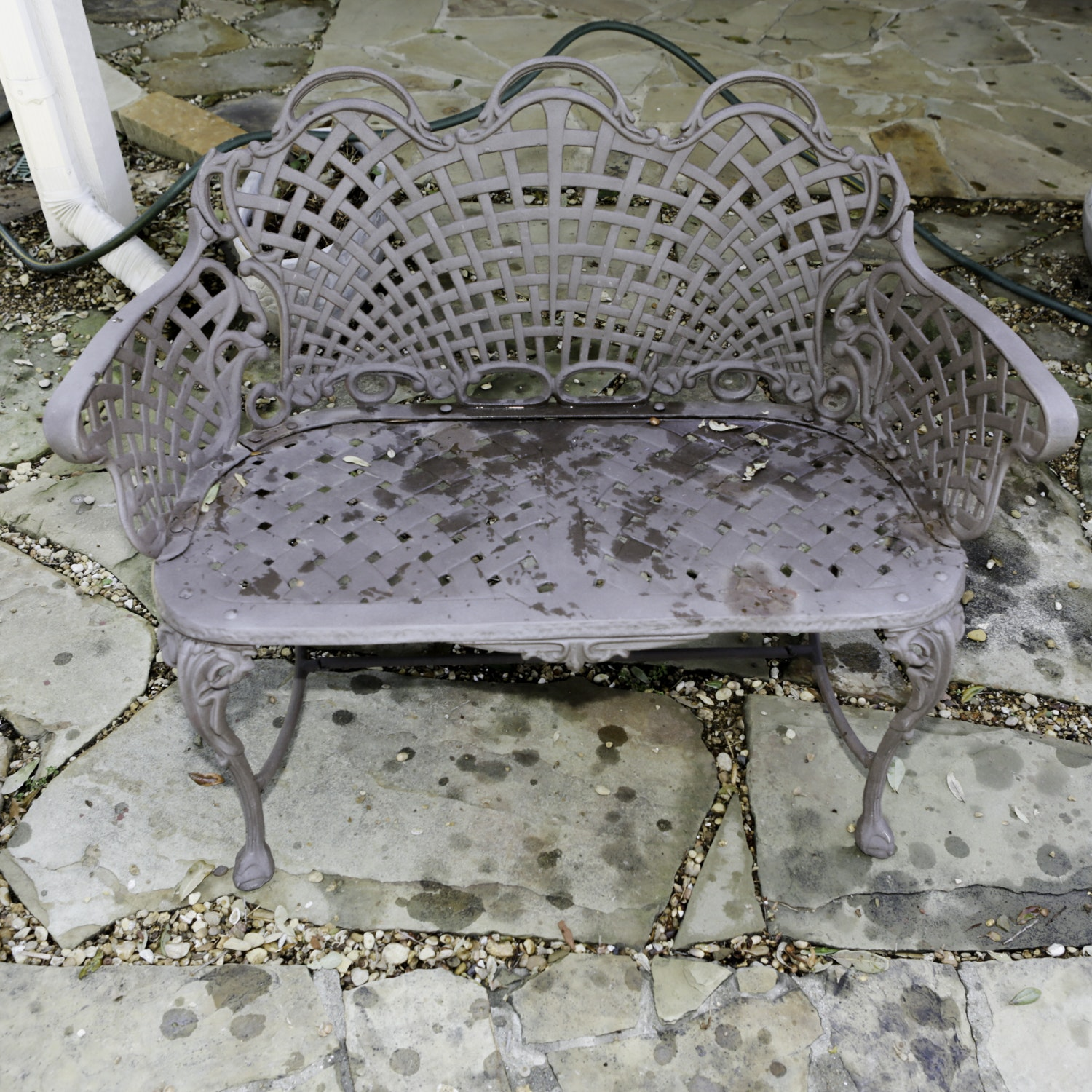 Outdoor Metal Bench