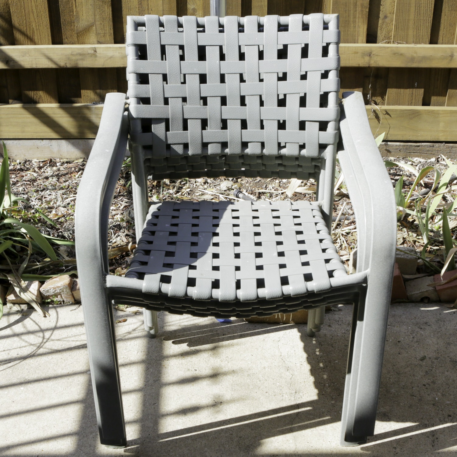 Aluminum Strap Stackable Patio Chairs