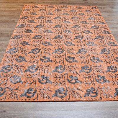 Handwoven Arts & Crafts Wool Area Rug