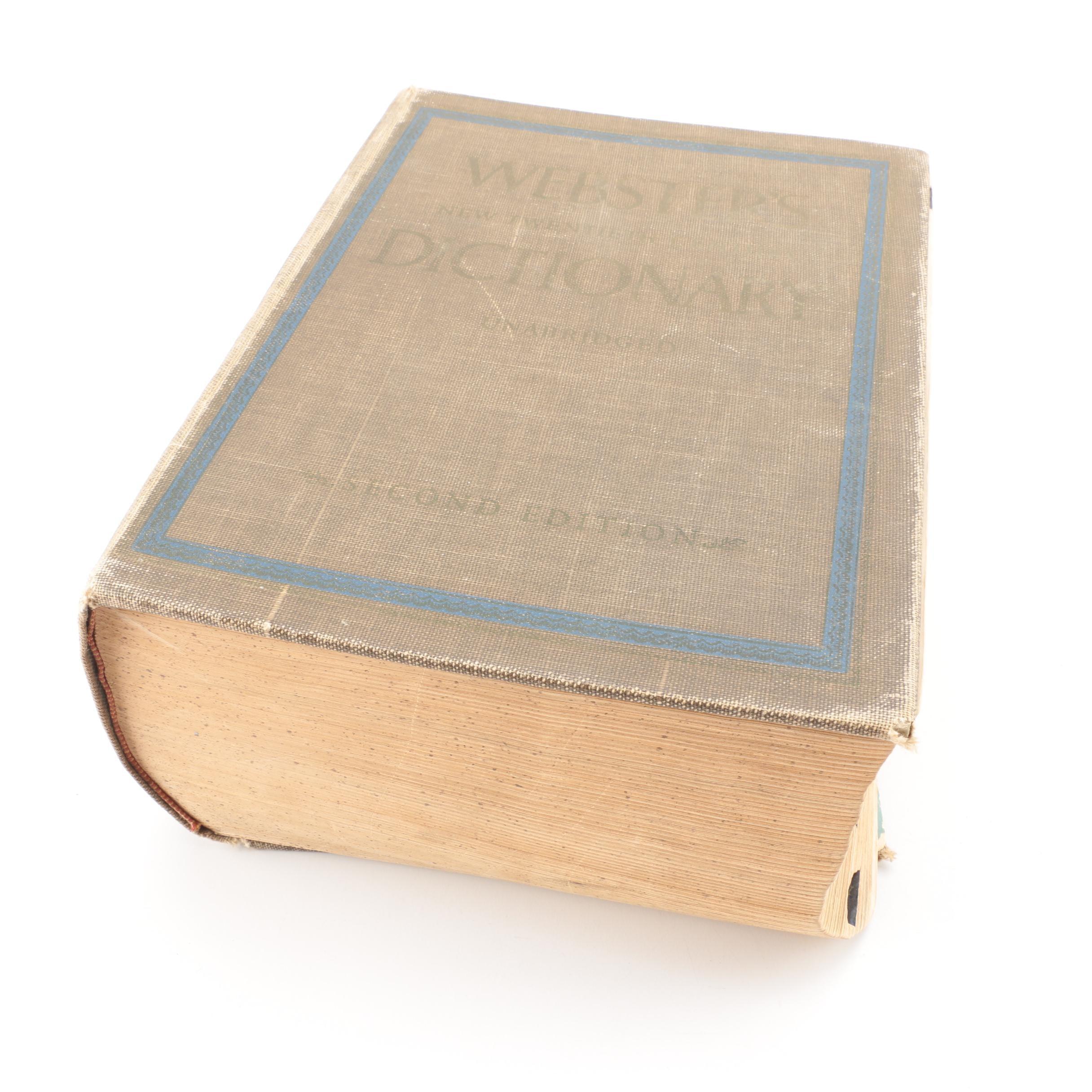Vintage Webster's Dictionary