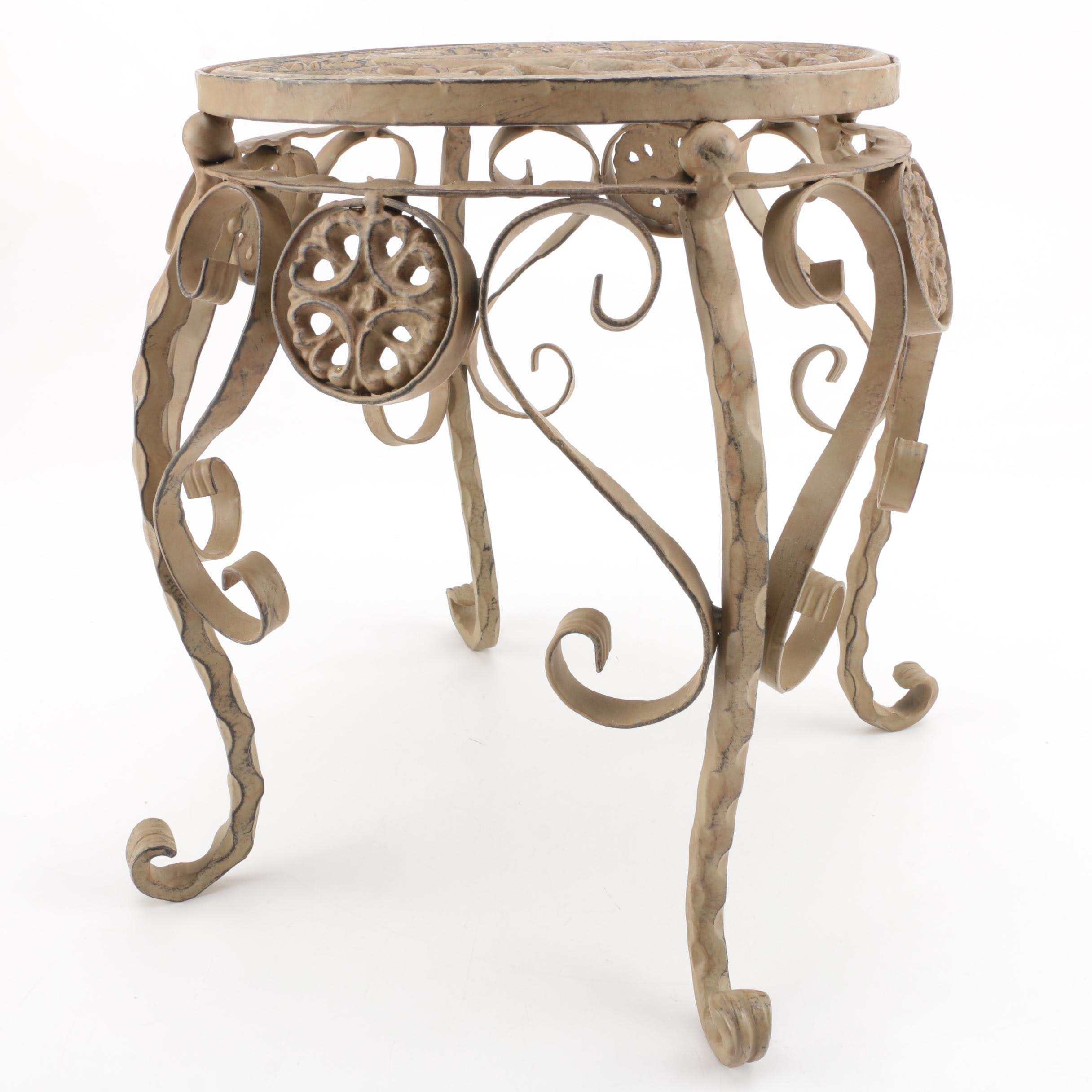 Wrought Metal Plant Stand