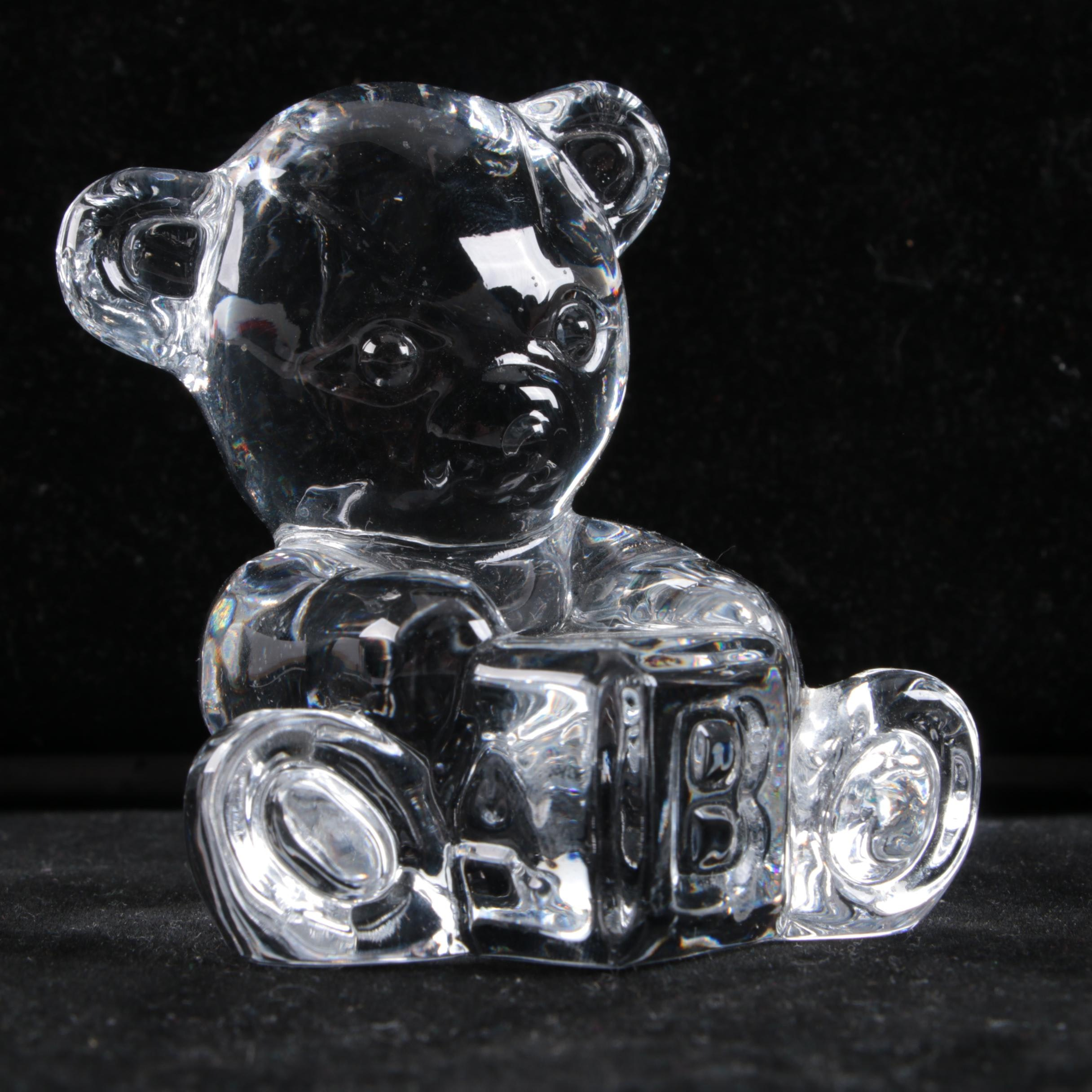Waterford Crystal Teddy Bear Figurine