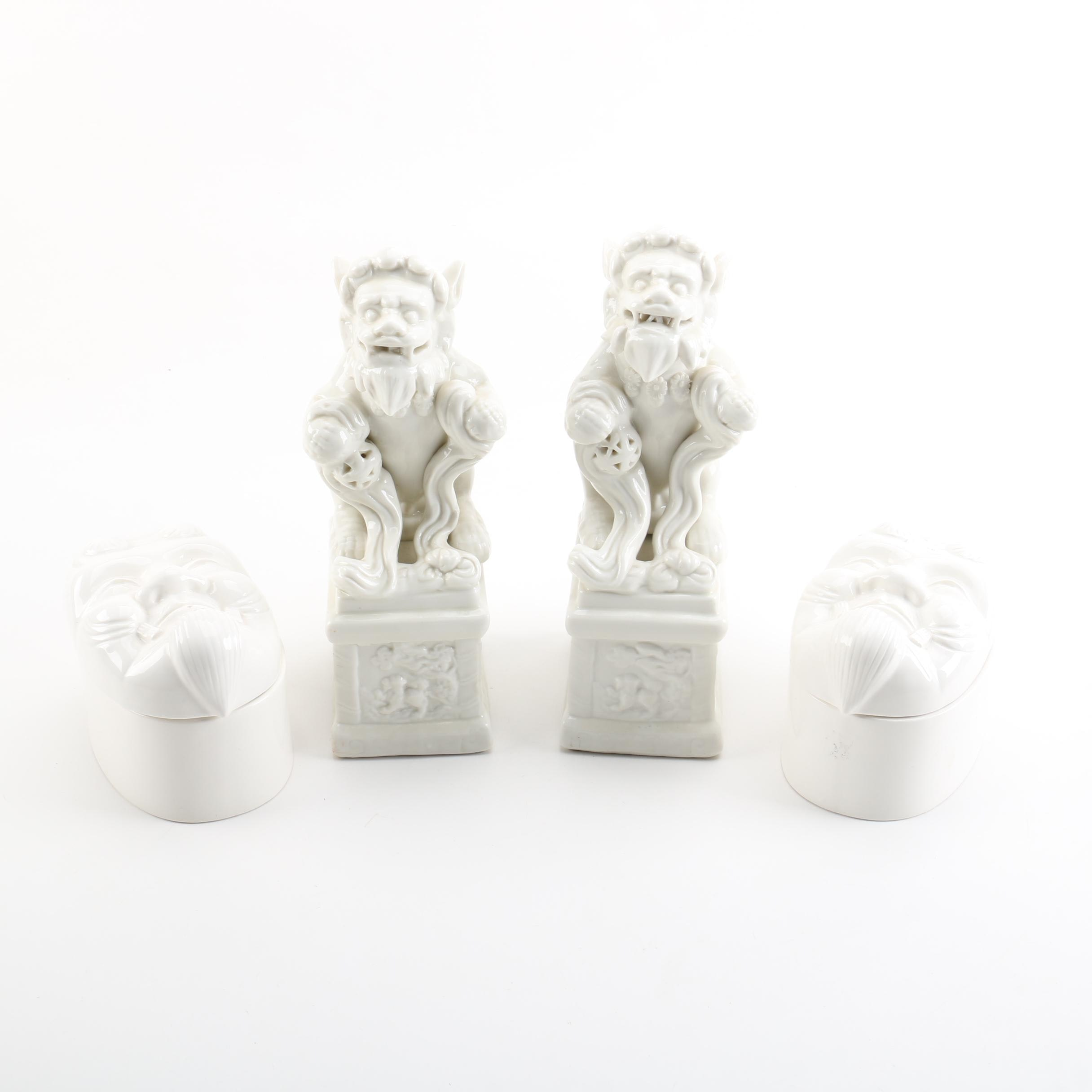 Blanc De Chine Chinese and Japanese Figurines