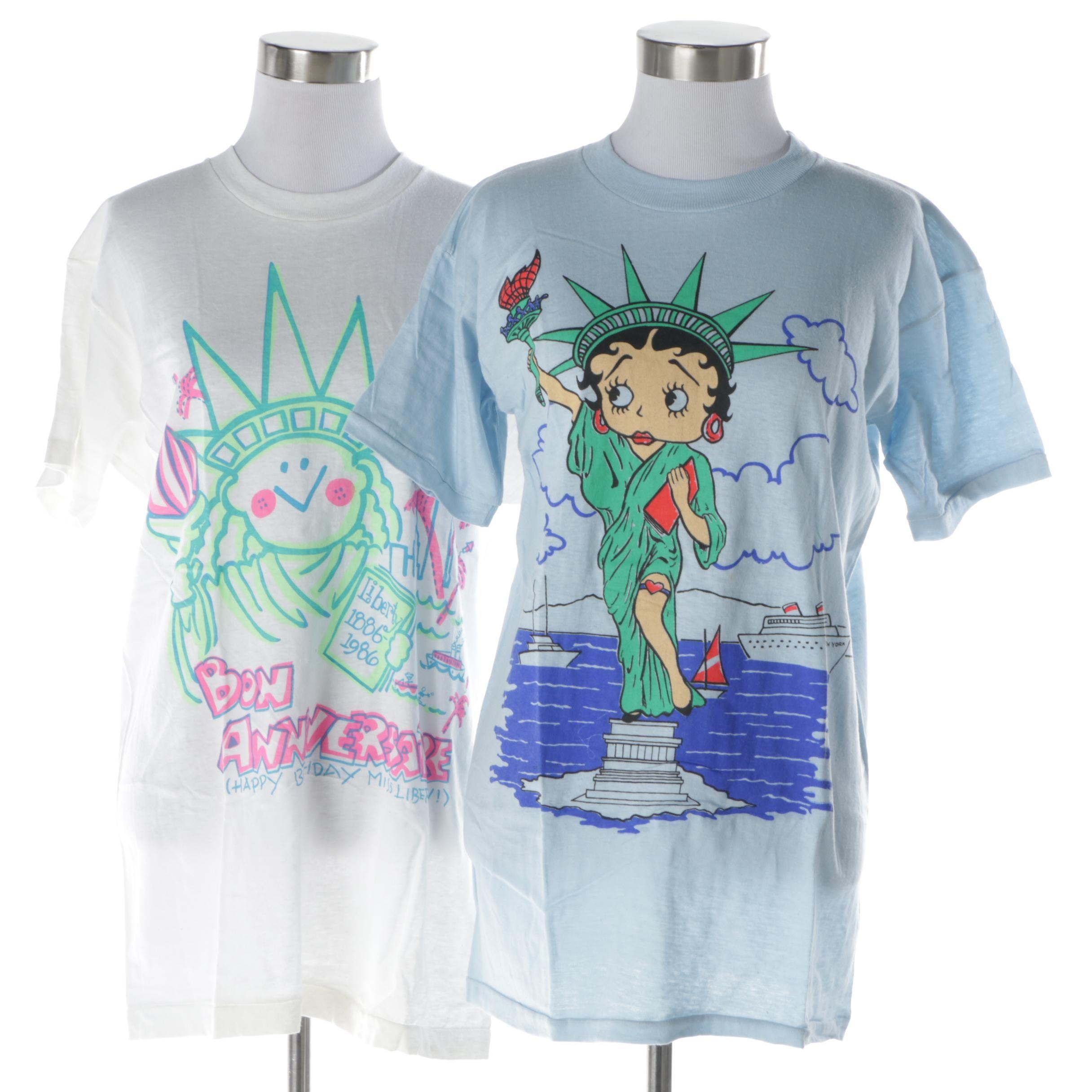 Women's Vintage Lady Liberty T-Shirts