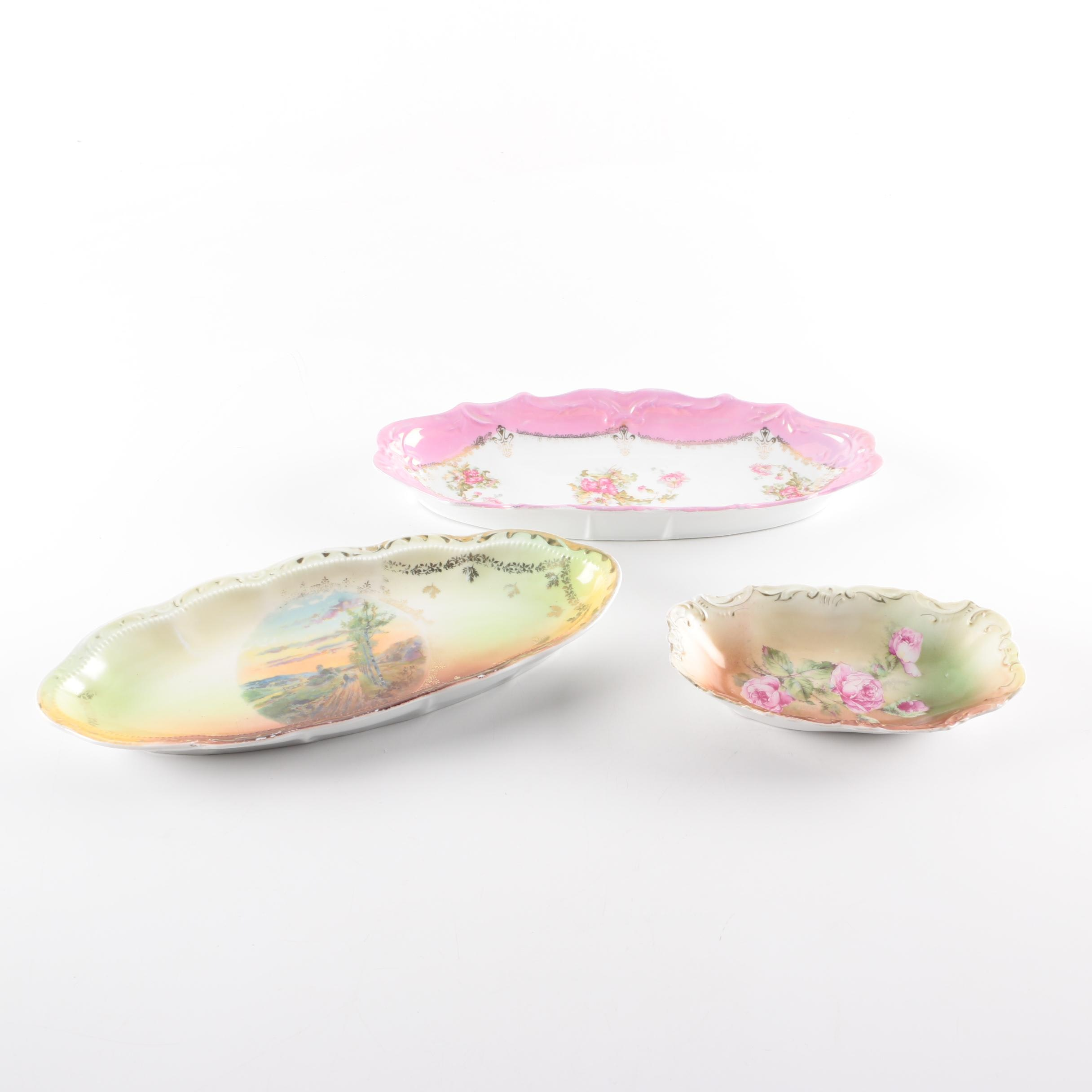 Transfer Printed Porcelain Dishes