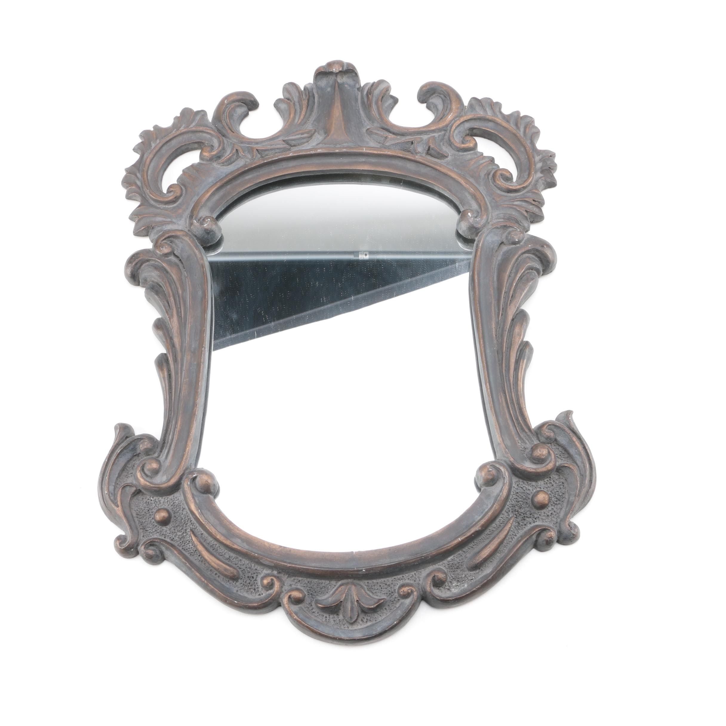 Wall Mirror with Baroque Style Frame