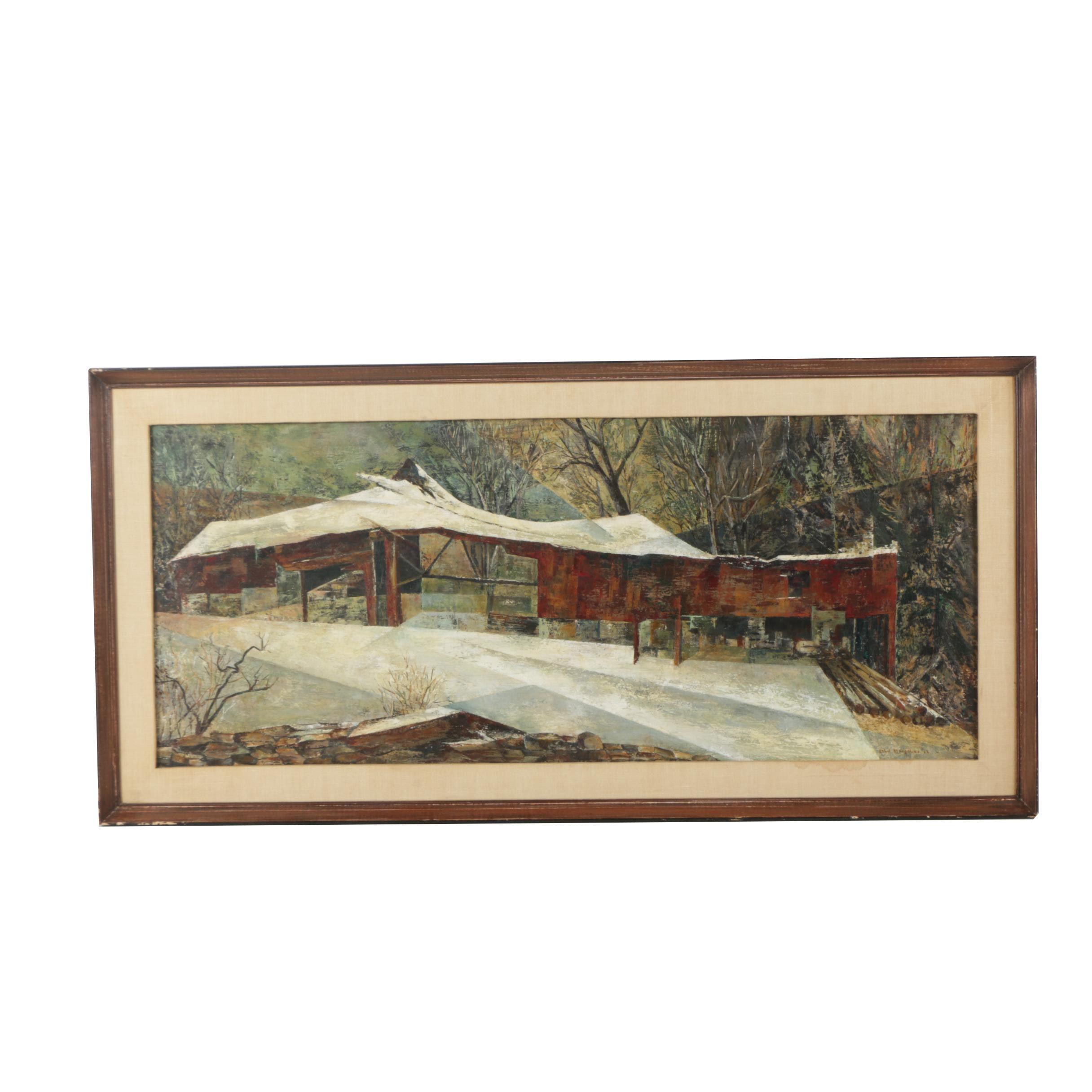 Ethel Margolies Landscape Oil Painting