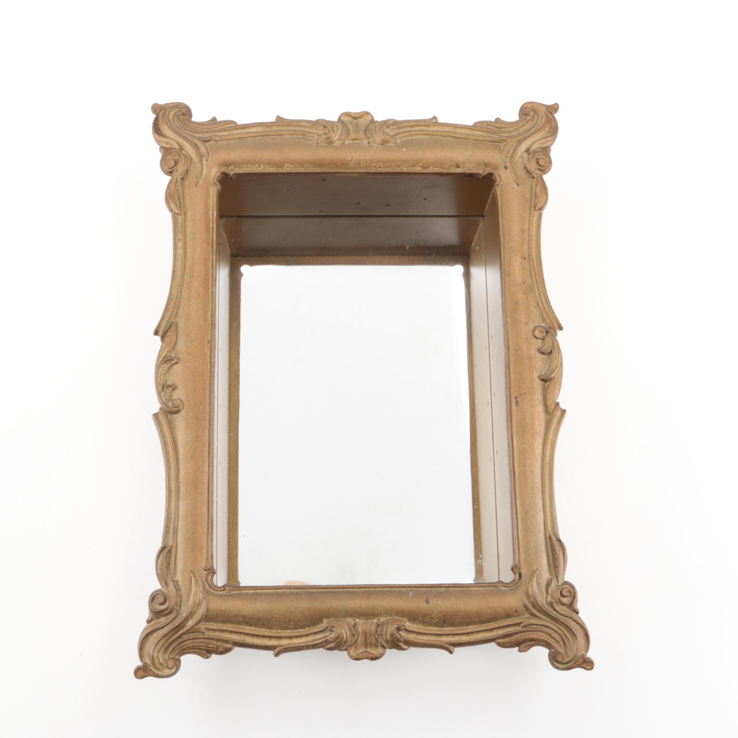 Louis XV Style Mirrored Display Shelf