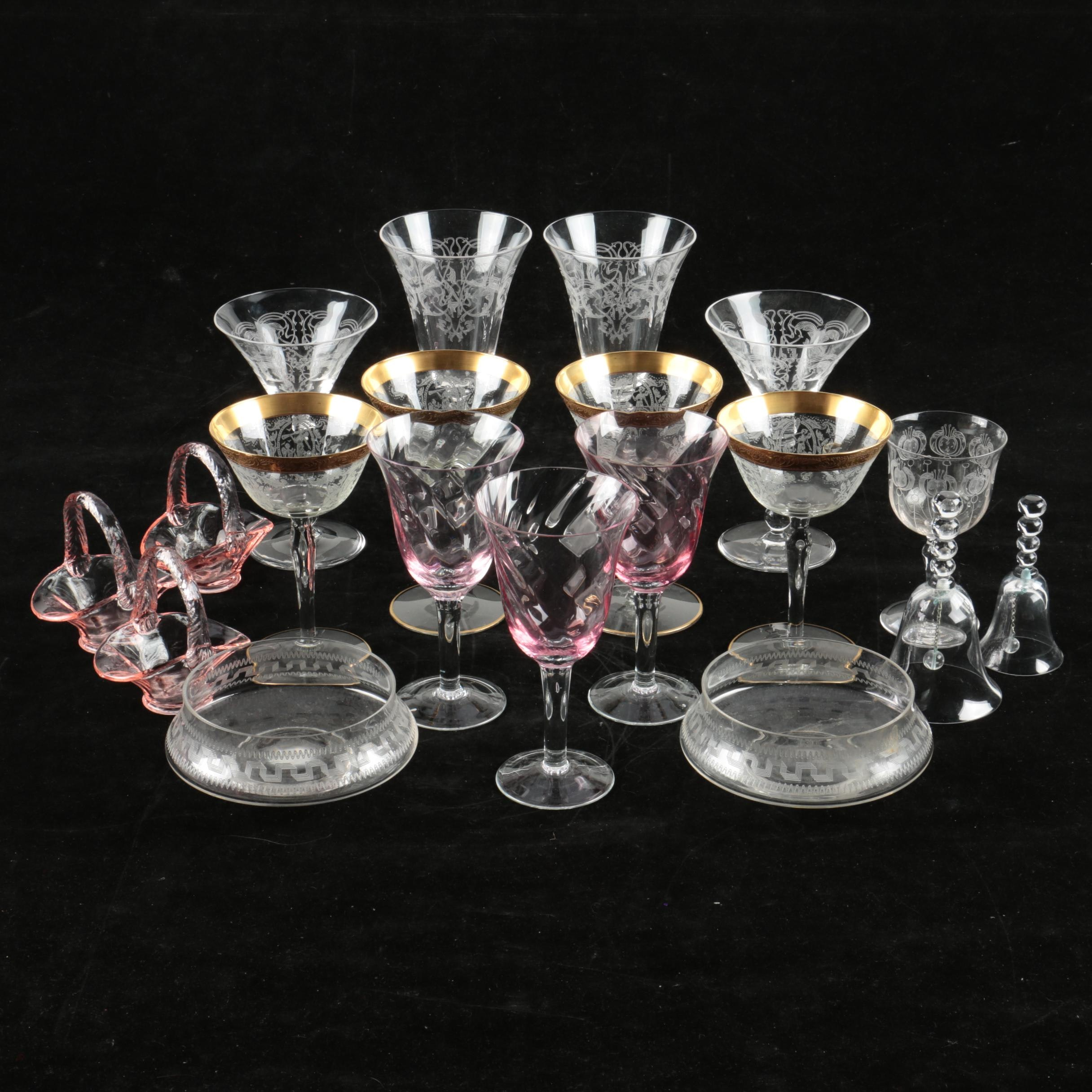 Etched Stemware, Tableware and Decor