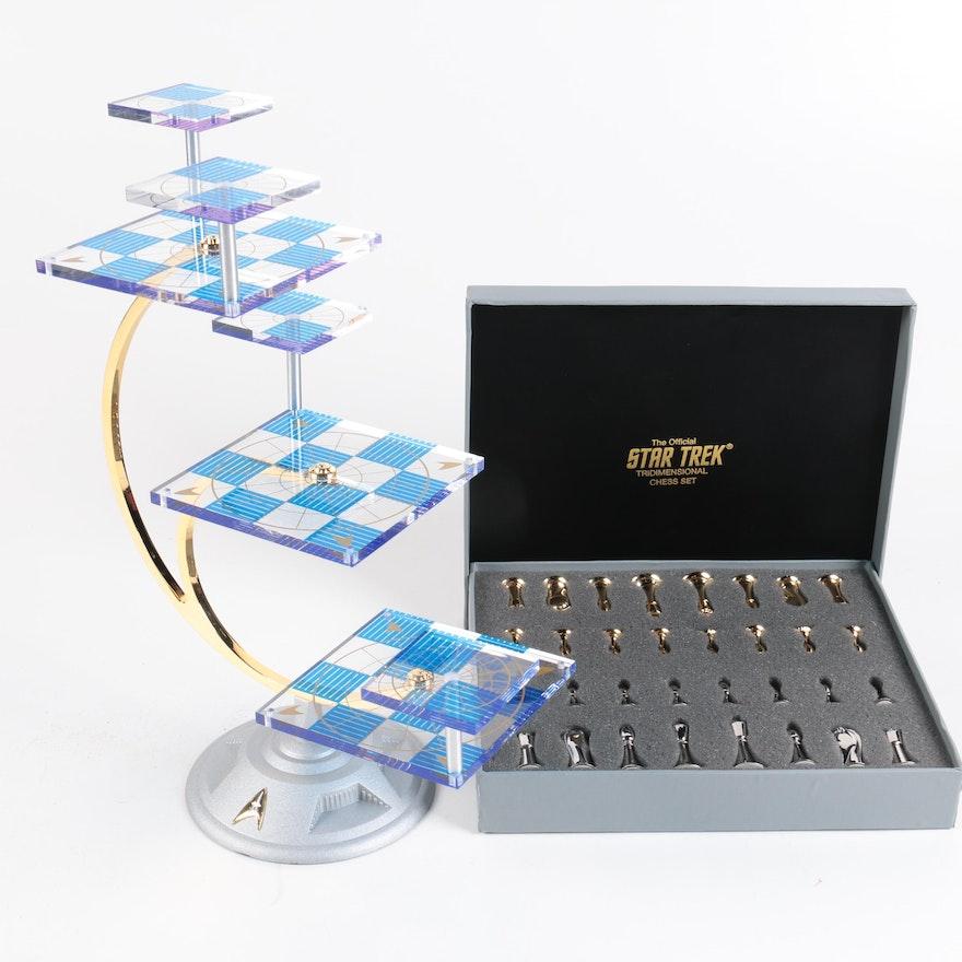 Franklin Mint Official Star Trek Tridimensional Chess Set Ebth