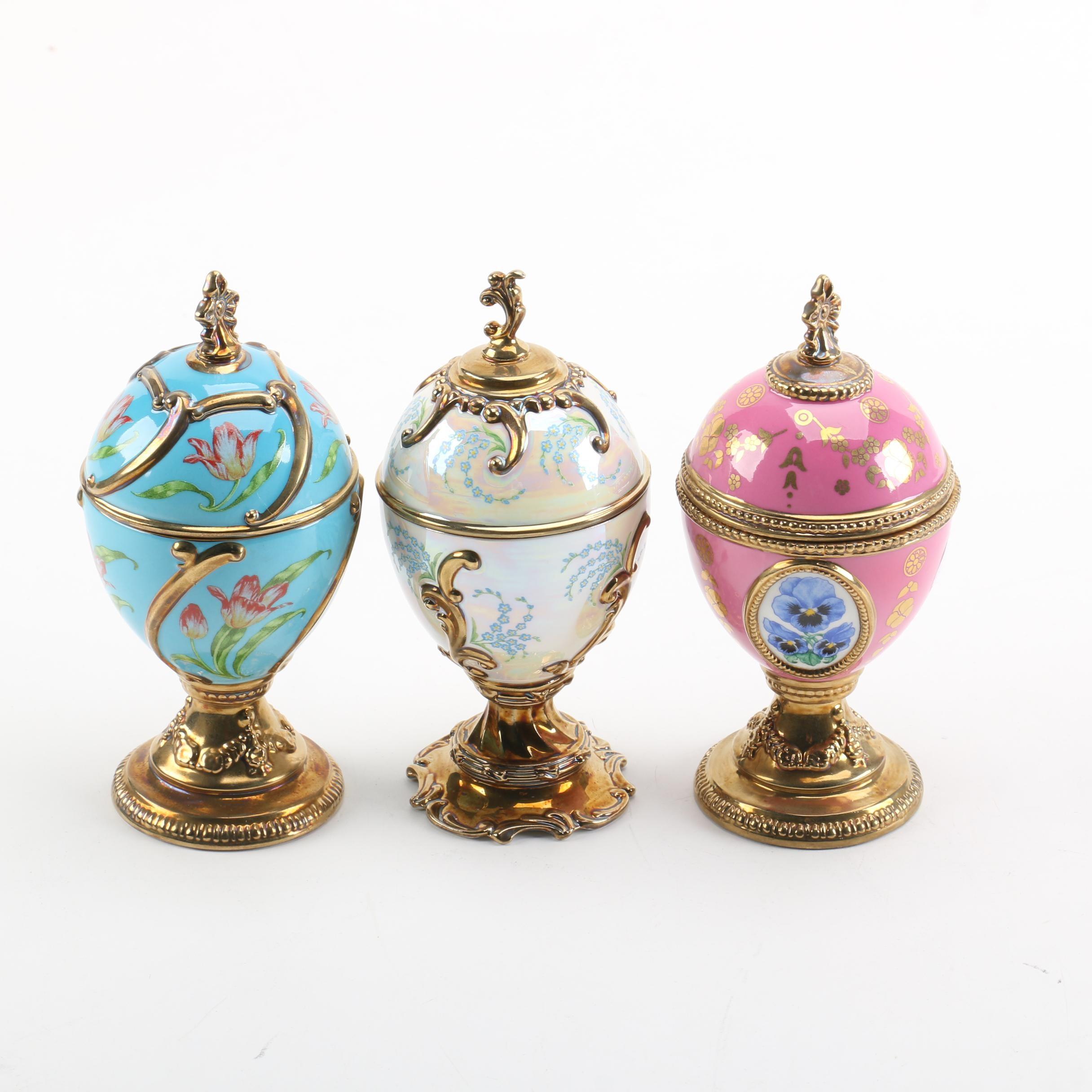 "Franklin Mint ""House of Fabergé"" Musical Eggs"