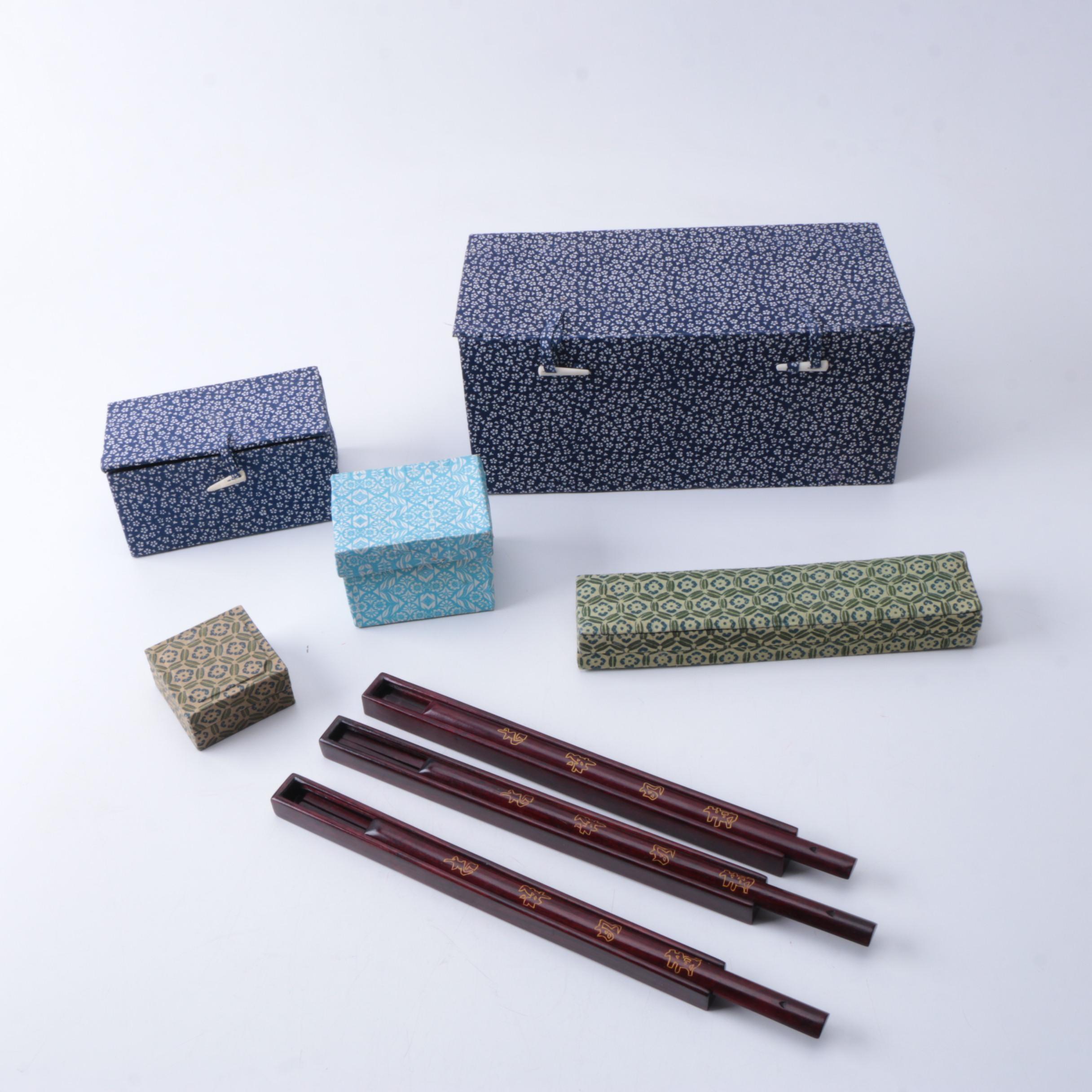 Stone Figures, Chopsticks and Pendants