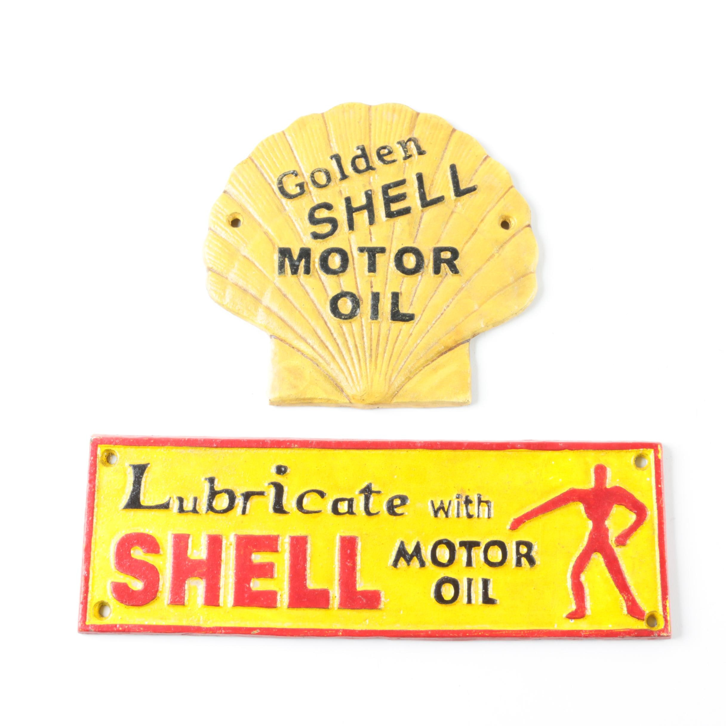 Iron Advertising Signs for Shell Motor Oil