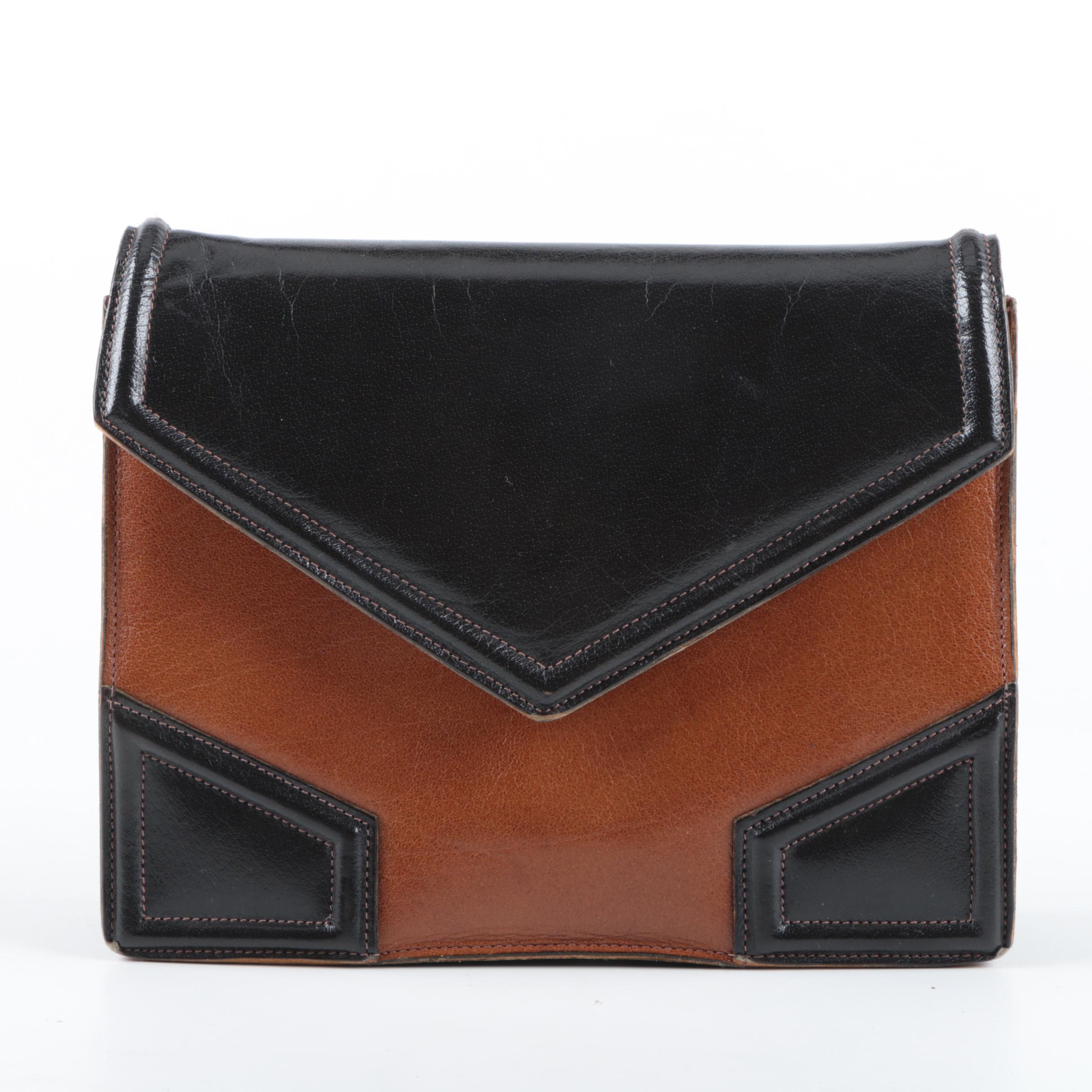 Vintage Yves Saint Laurent Leather Envelope Clutch