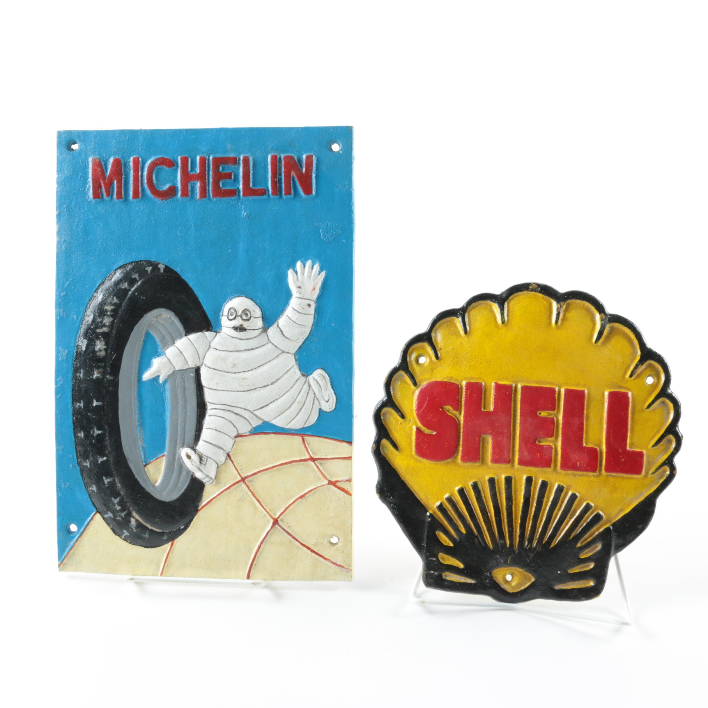 Iron Advertising Signs for Michelin and Shell