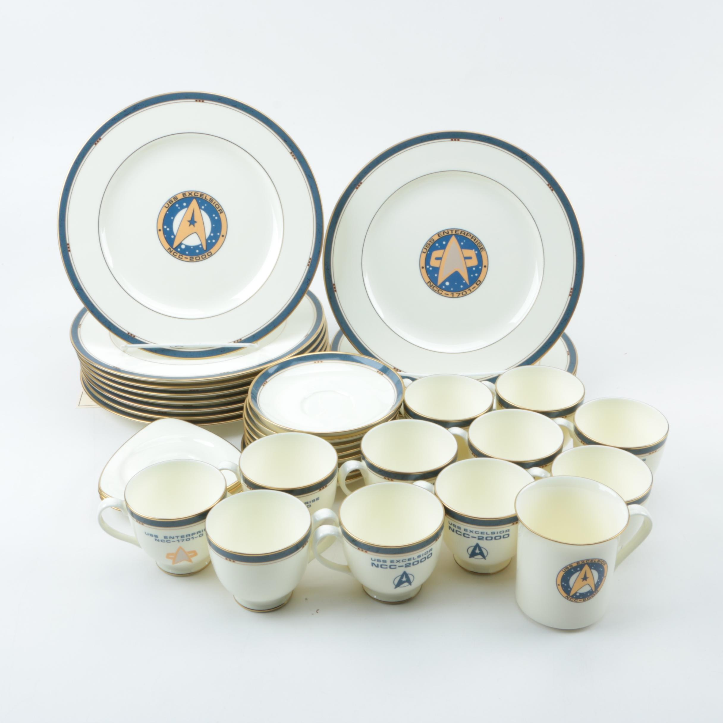 "Pfaltzgraff Bone China ""Star Trek"" Dinnerware"
