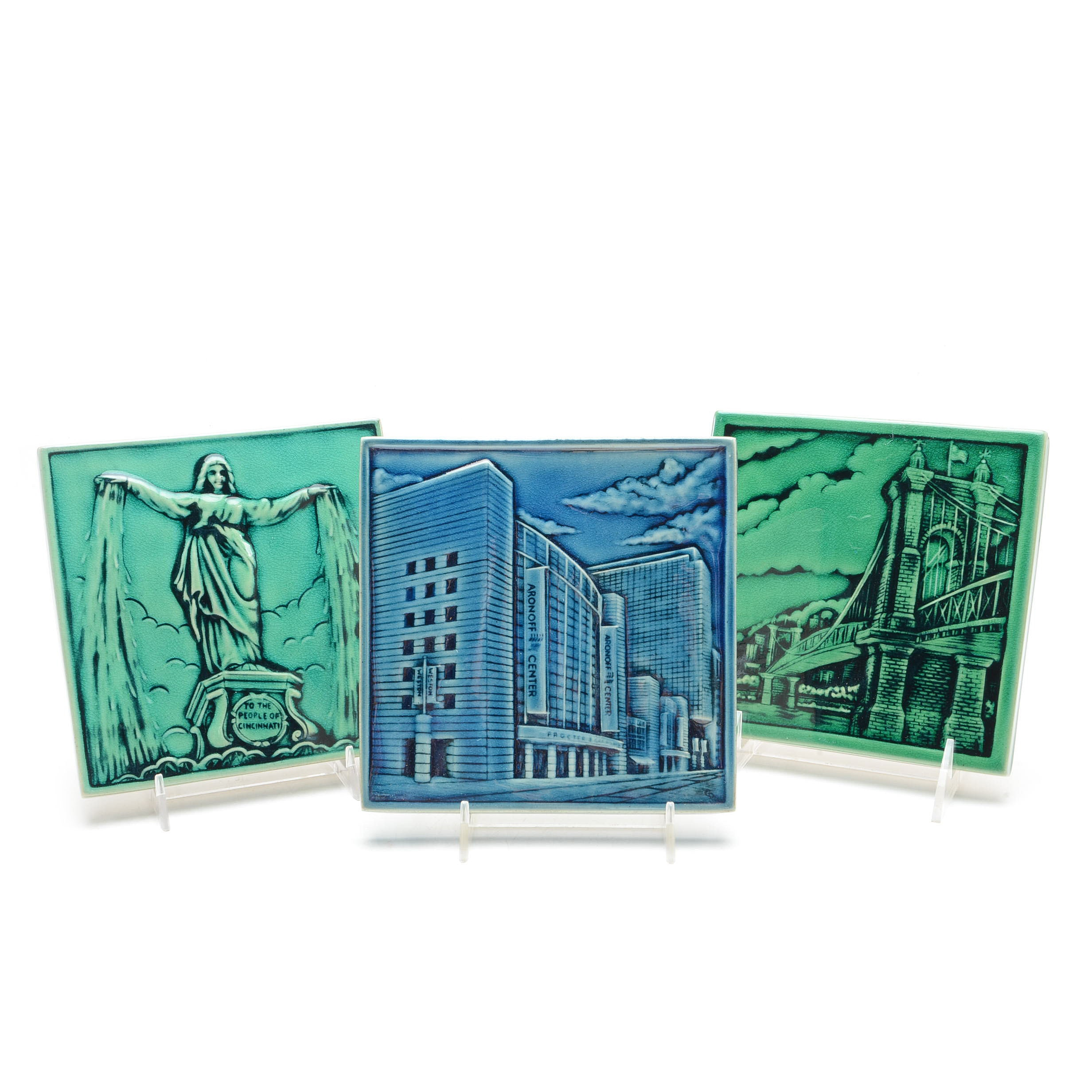 Rookwood Pottery Cincinnati Landmark Tiles