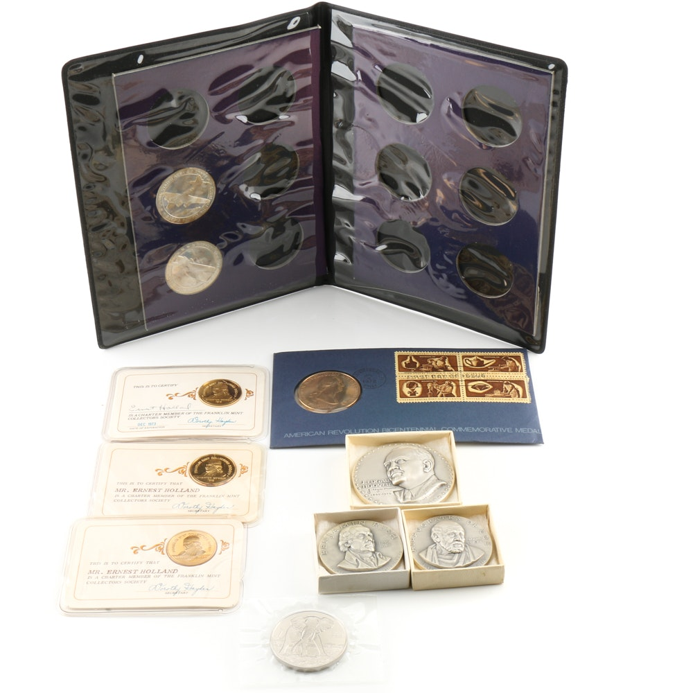 Assortment of Commemorative Medals and Coins