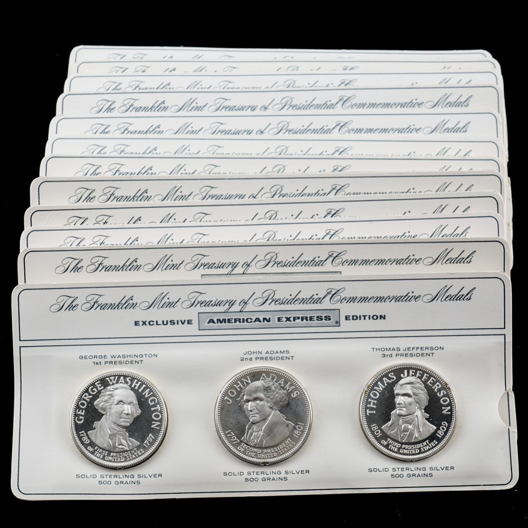 "Complete Set of Thirty-Six ""Treasury of Presidential Commemorative Medals"""