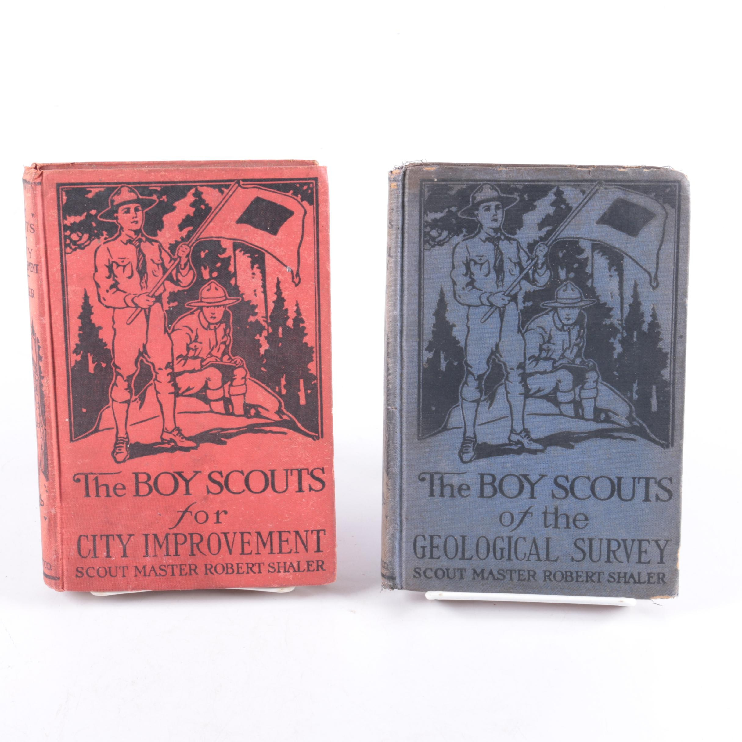 "1914 Two-Volume ""Sterling Boy Scout Books"""