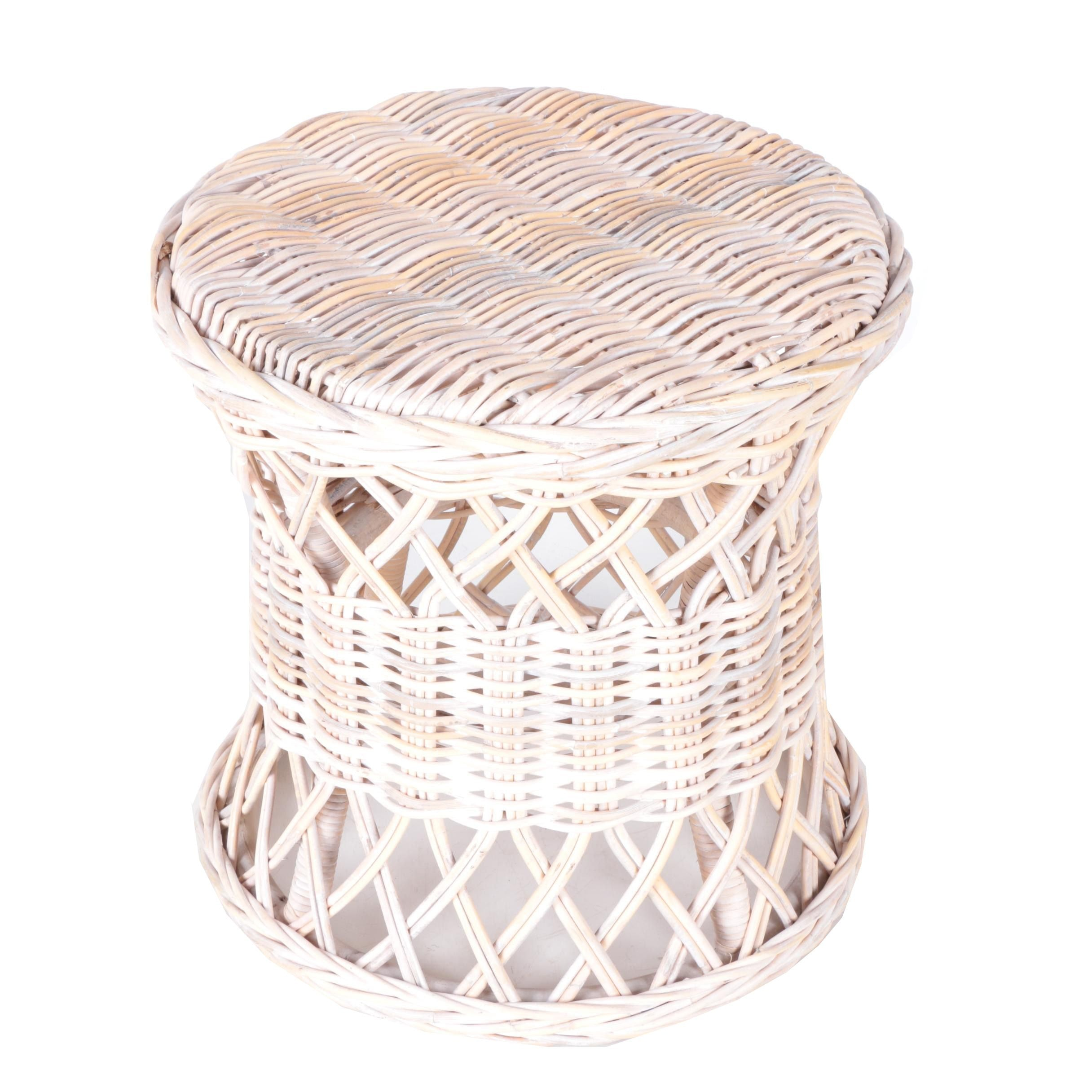 Outdoor Wicker Accent Table