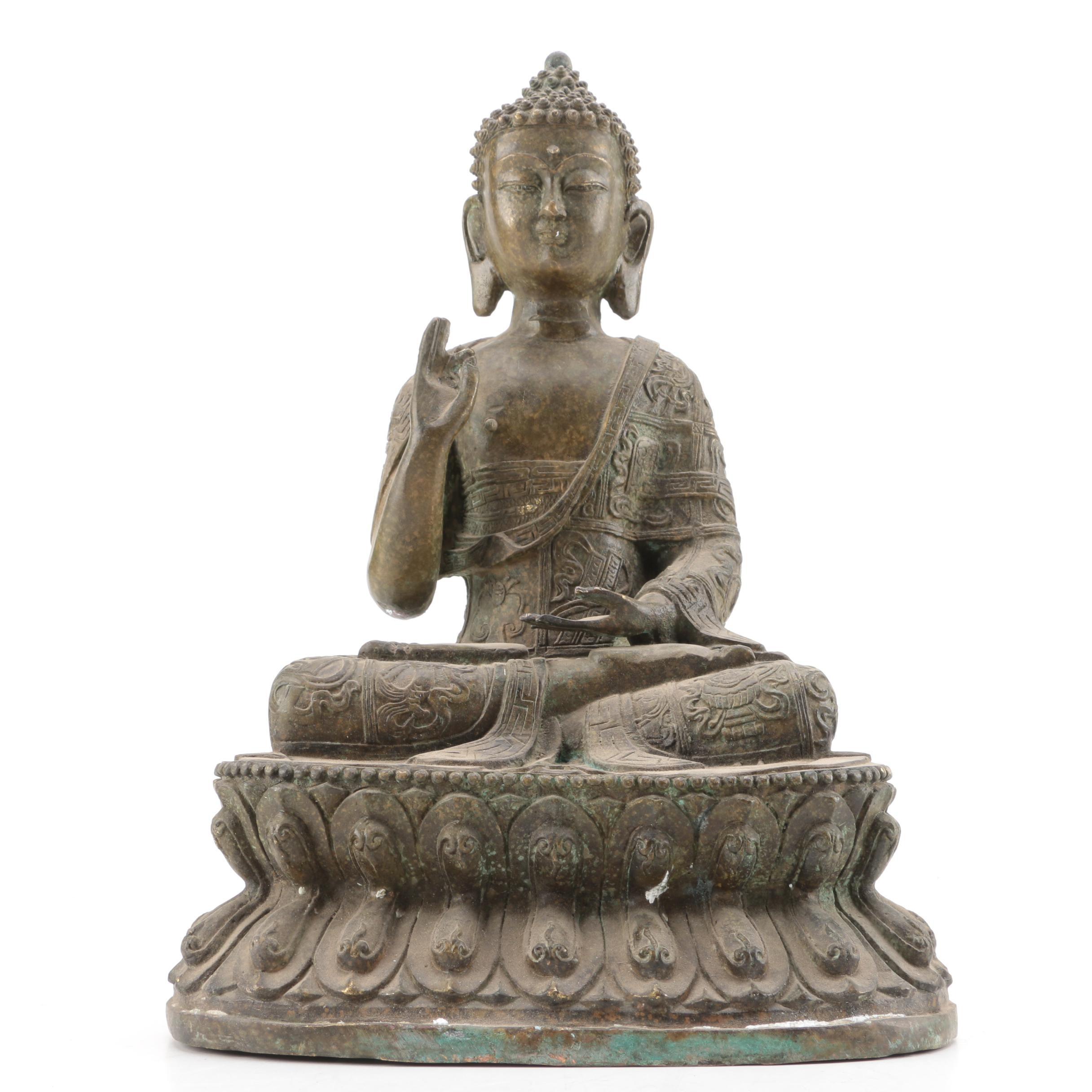 Metal Gautama Buddha Figurine