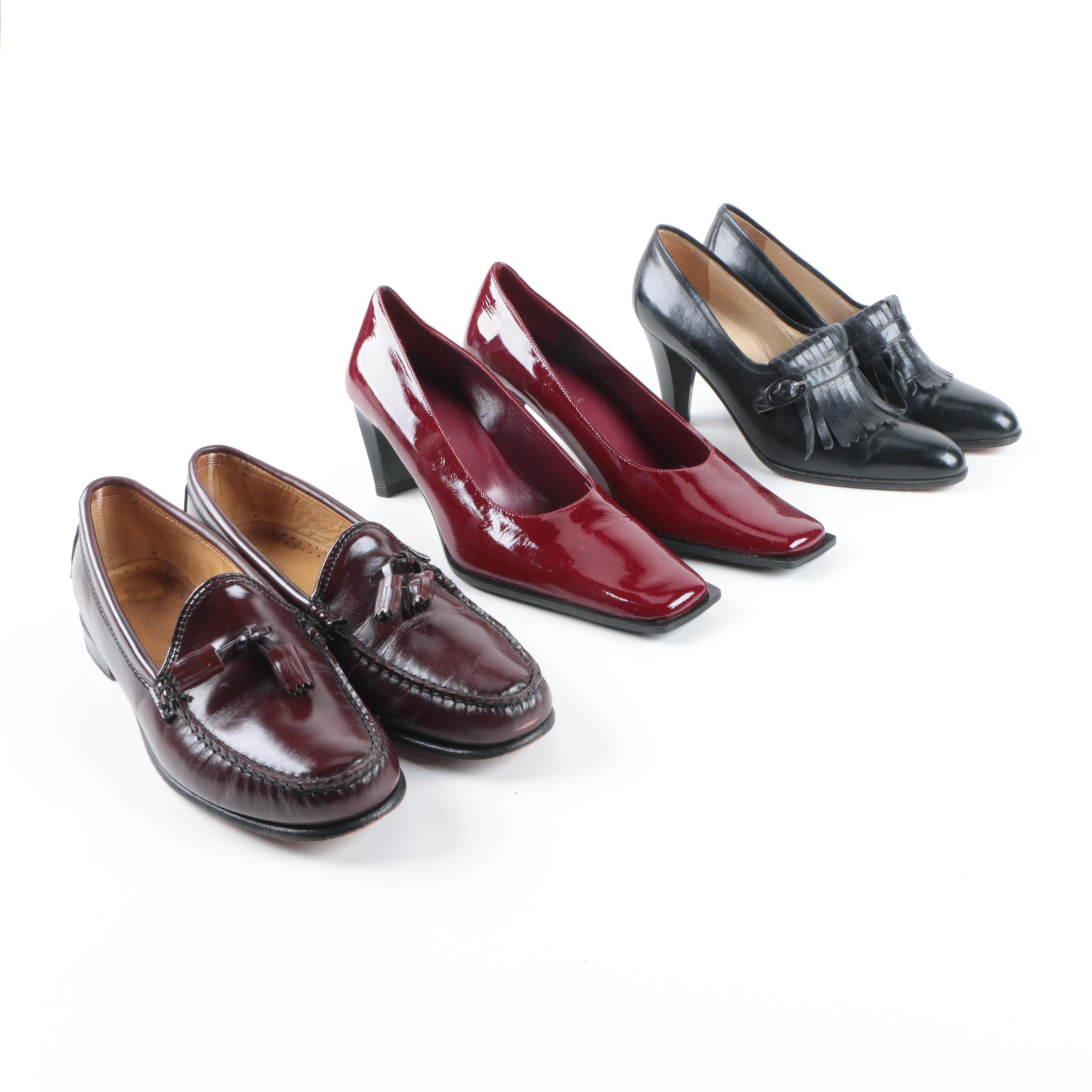 Women's Leather Loafers and Heels