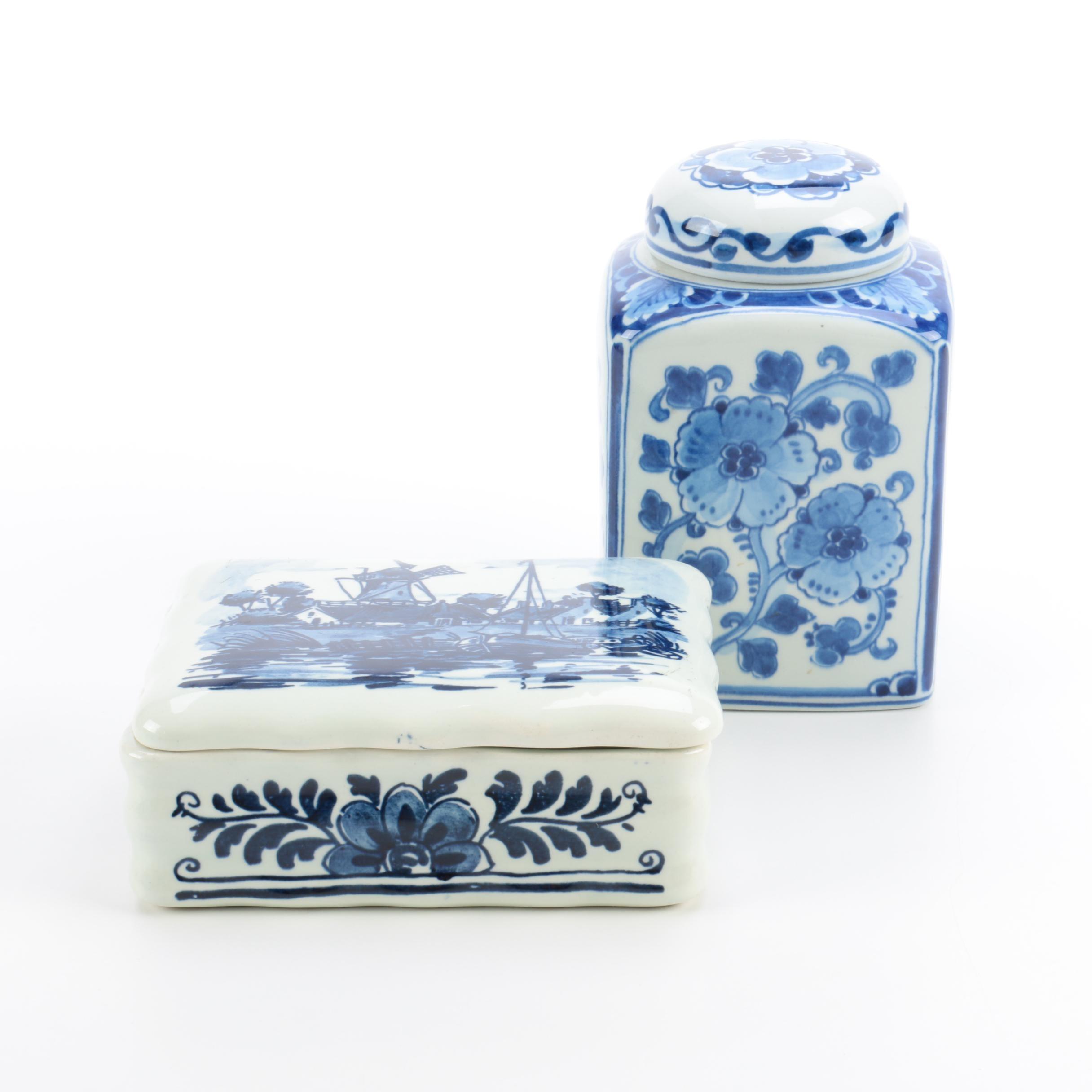 Delft Porcelain Jars