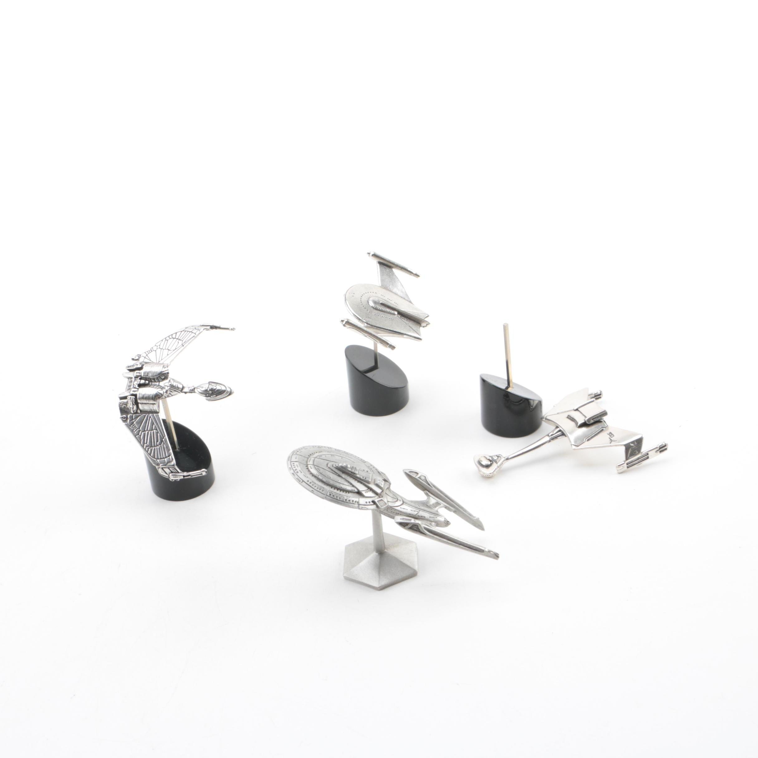 Sterling Silver and Pewter Model Star Trek Aircrafts