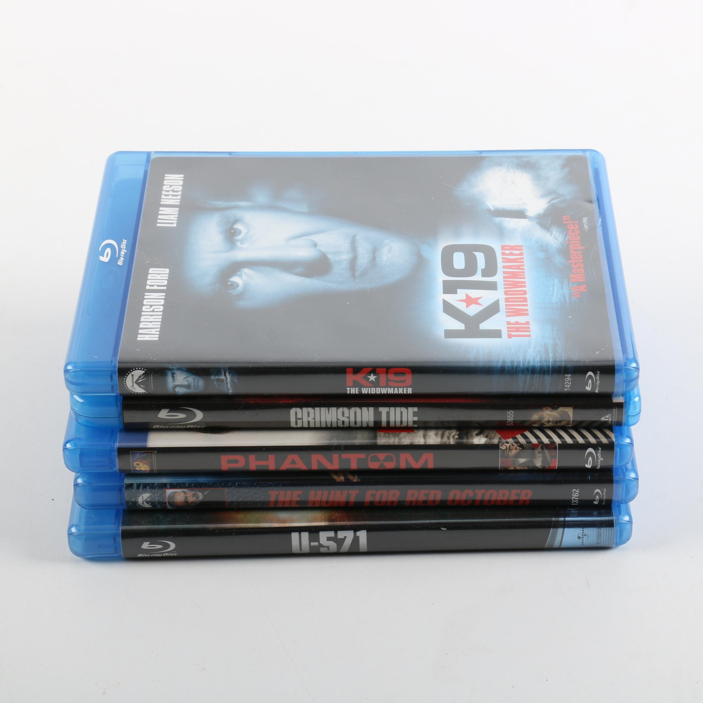 "Naval War Blu-Ray Including ""Crimson Tide"" and ""Hunt for Red October"""