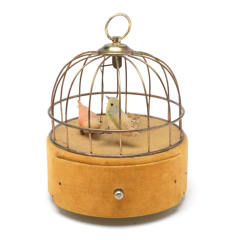 Vintage Birdcage Music Box