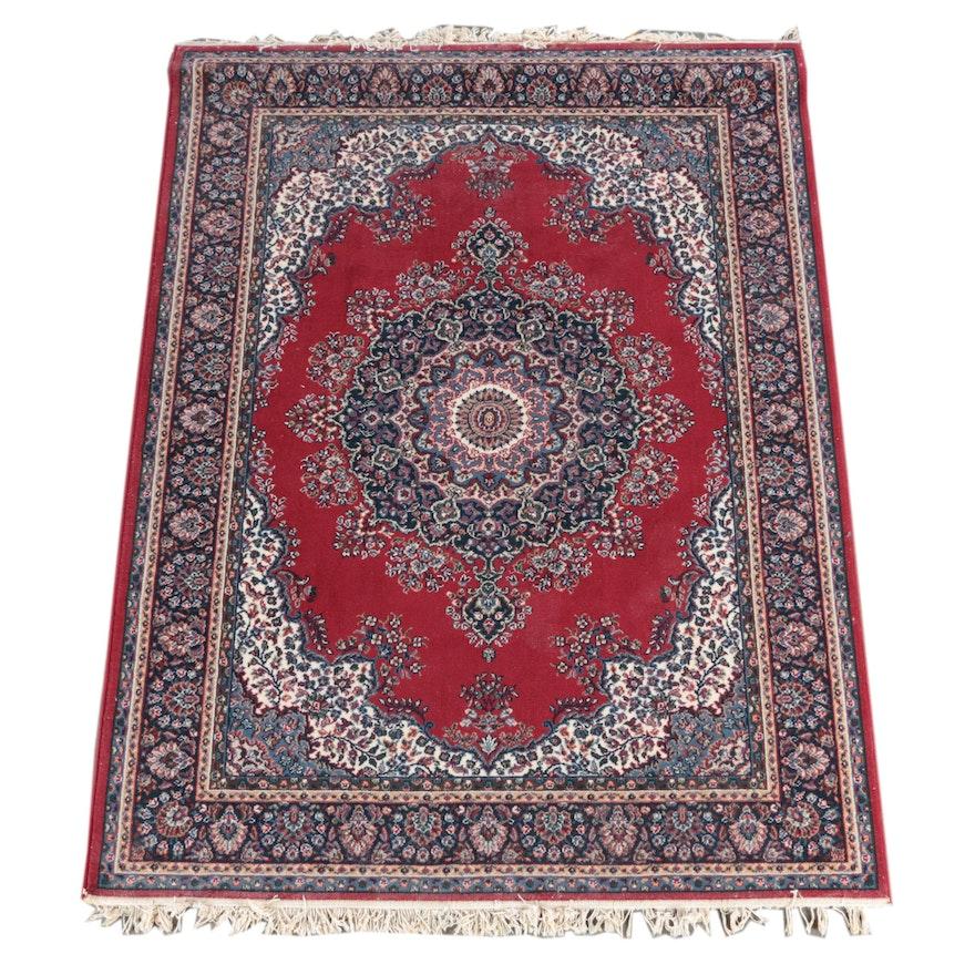 Persian Style Wool Area Rug Ebth: Power-Loomed Persian Style Wool Area Rug : EBTH