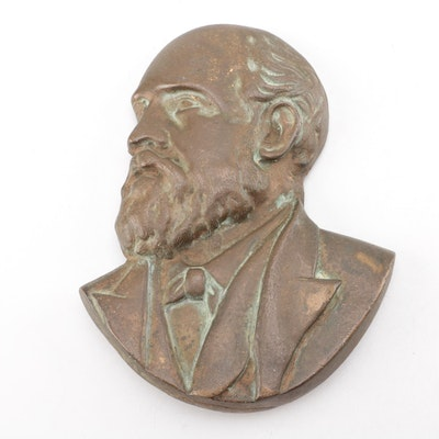 Bronze Bust Wall Plaque of U.S. President Rutherford B. Hayes