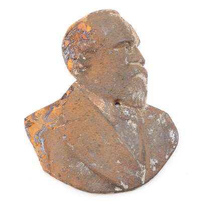 President James A. Garfield Wall Mounted Bust