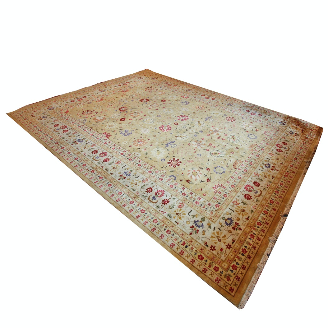 Large Hand-Knotted Sino-Persian Area Rug