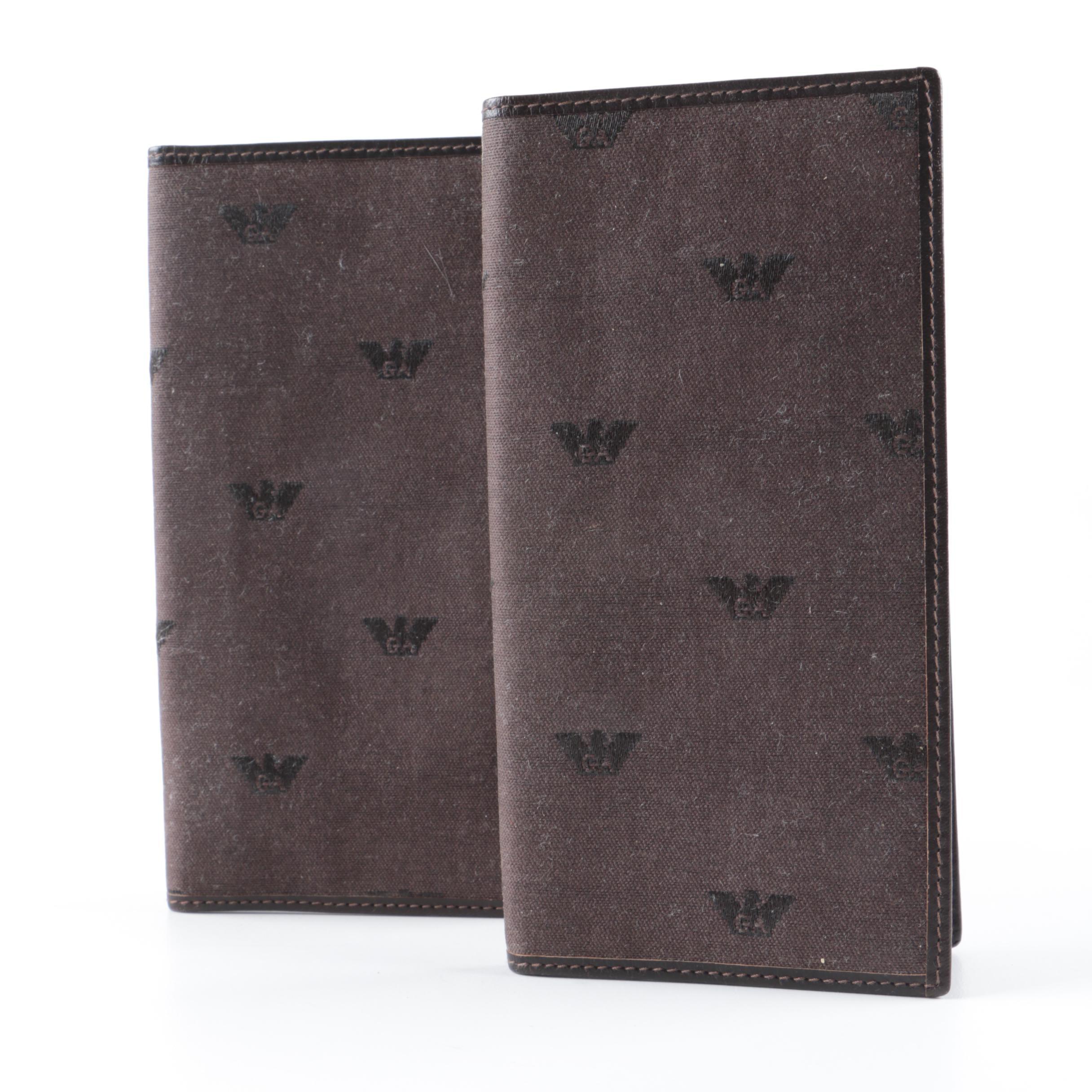 Emporio Armani Checkbook Covers