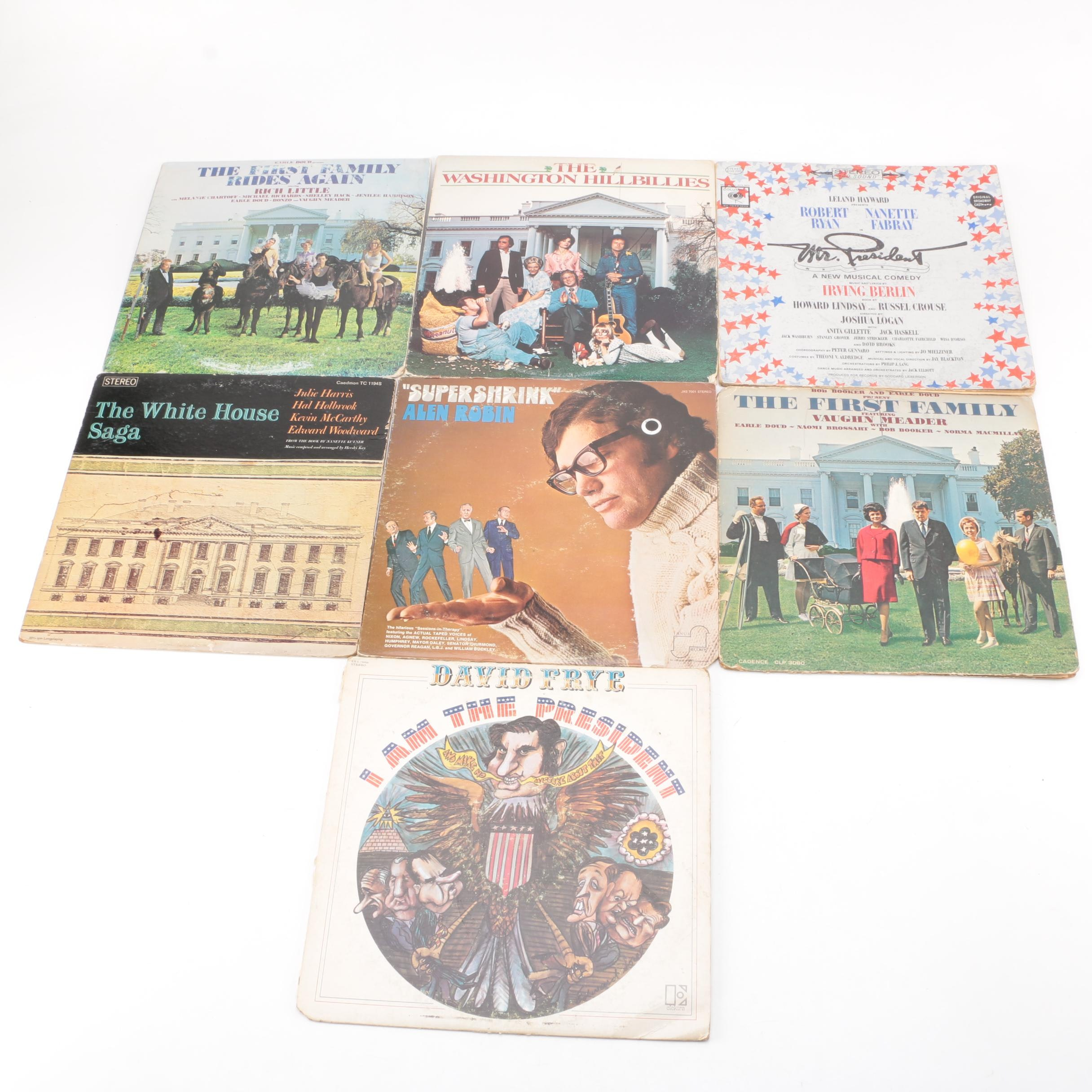 Kennedy, Nixon, Carter, Reagan Satire, Comedy Musical,  White House History LPS