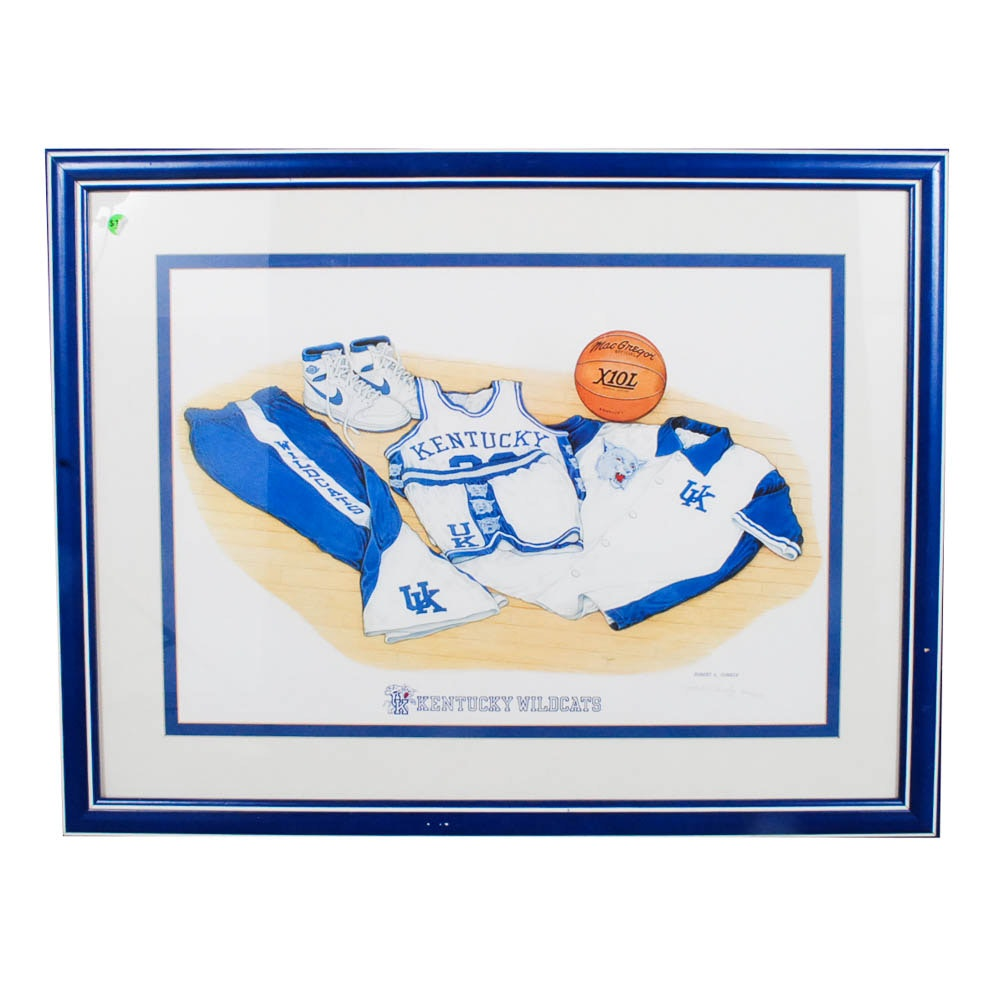 Robert Conely Limited Edition Kentucky Wildcats Lithograph