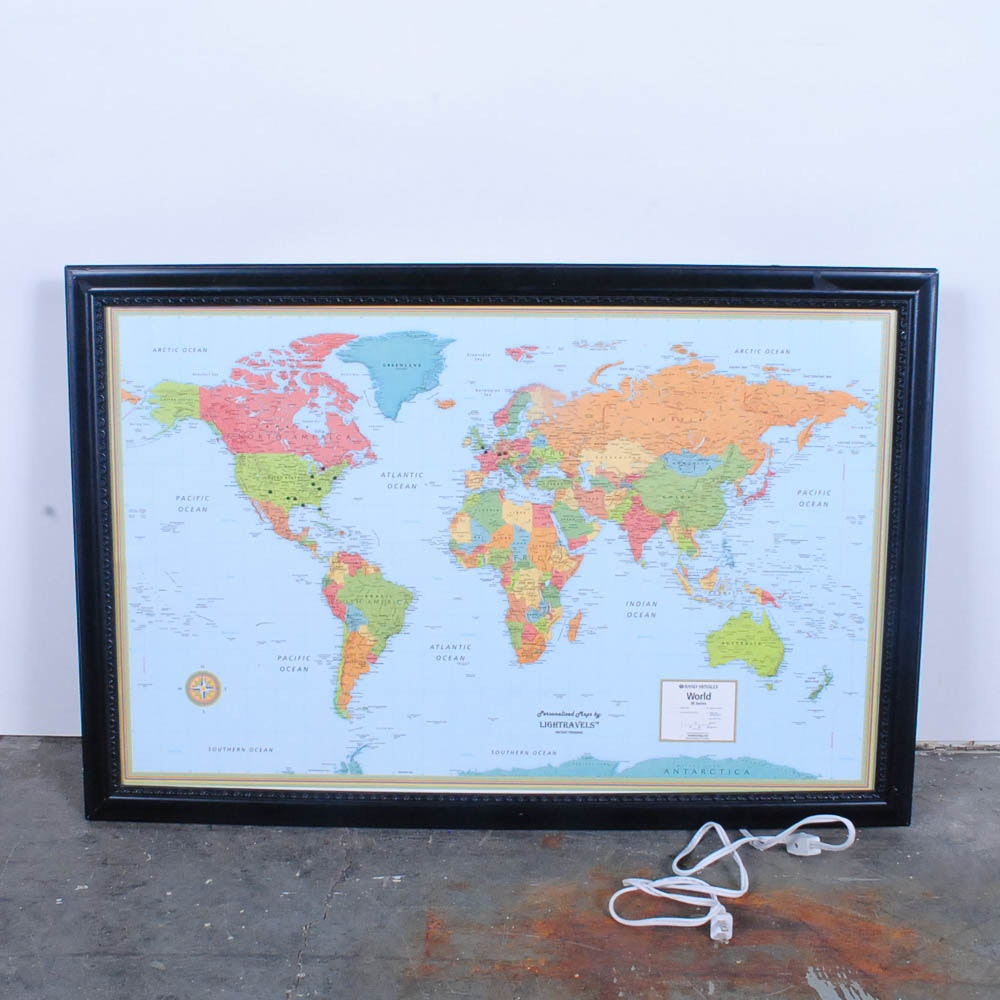 Rand McNally Lighted World Map