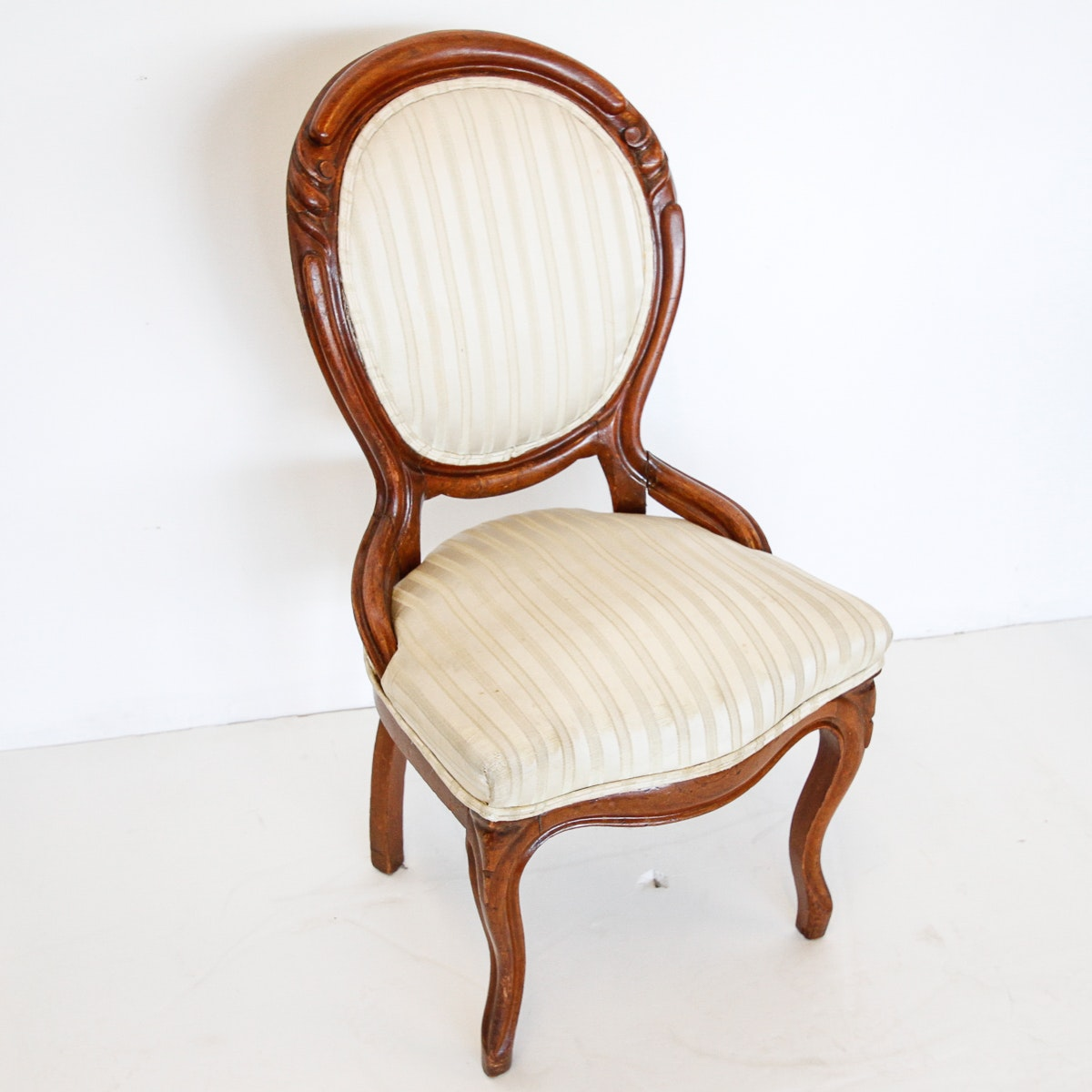 Louis XV Style Oval Back Side Chair