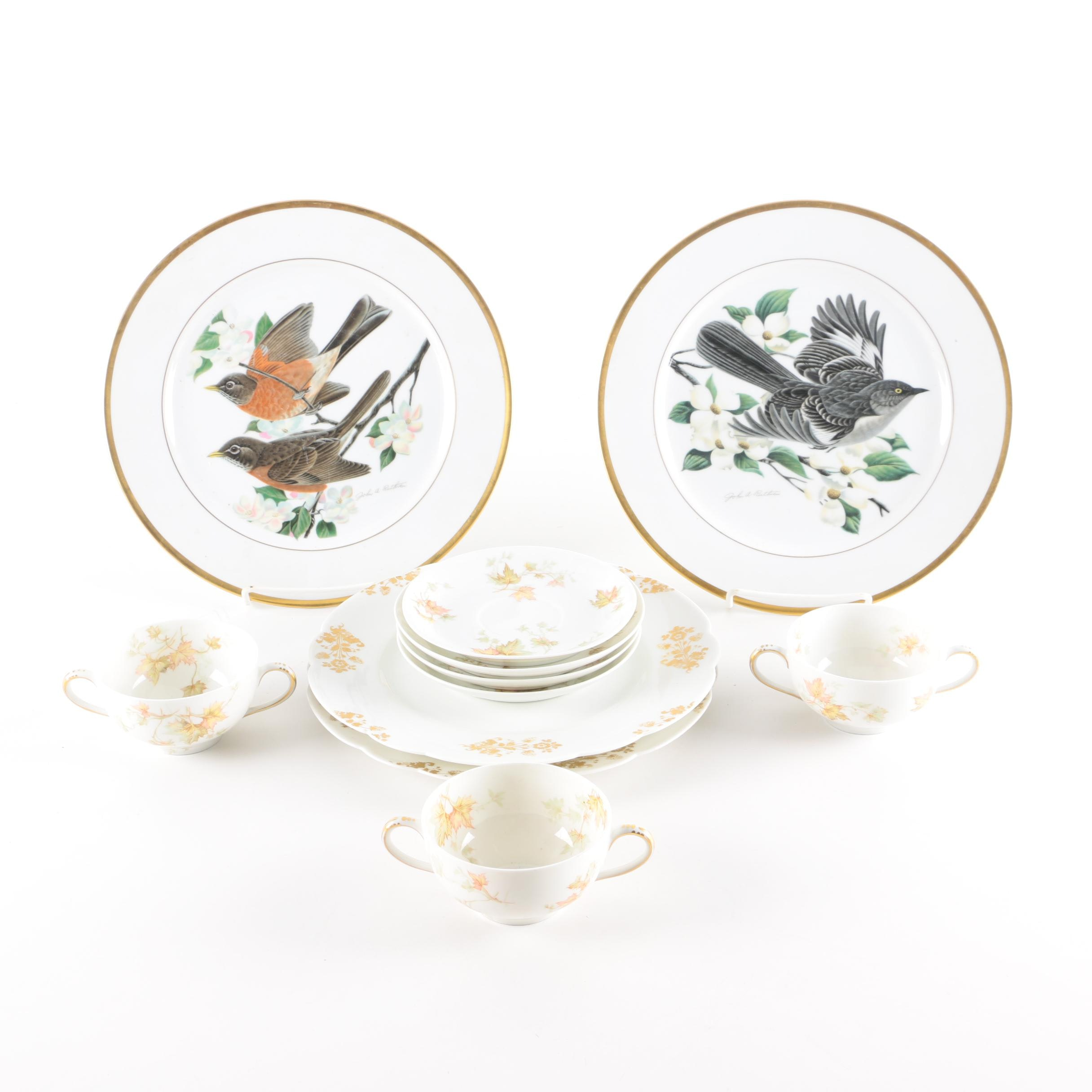 "Haviland and Co. ""The Autumn Leaf"" and Bird Plates by John A. Ruthven"