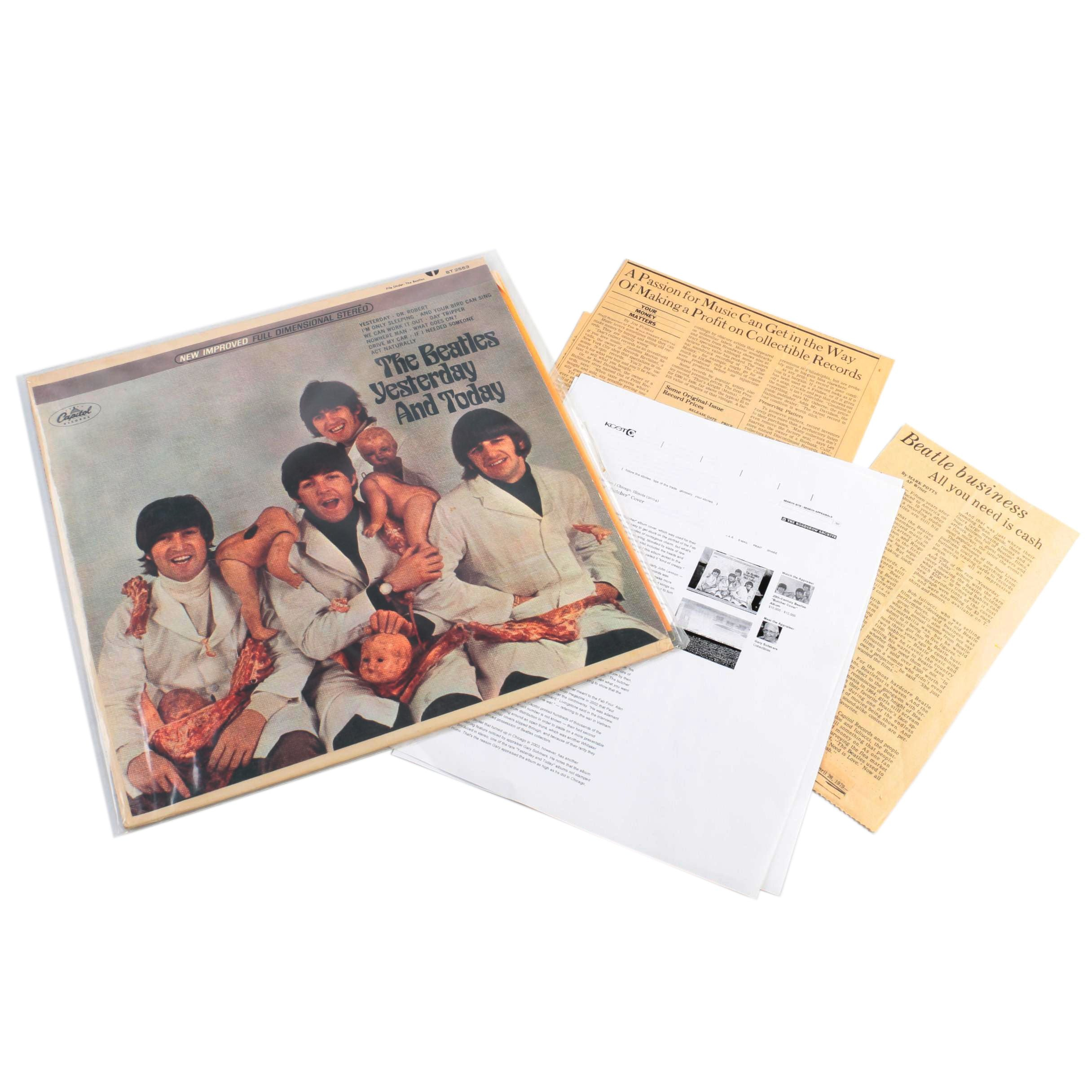 """The Beatles """"Yesterday and Today"""" 'Third State Peeled' Stereo 'Butcher Cover' LP"""