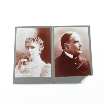 Cabinet Photographs of President William and First Lady Ida McKinley