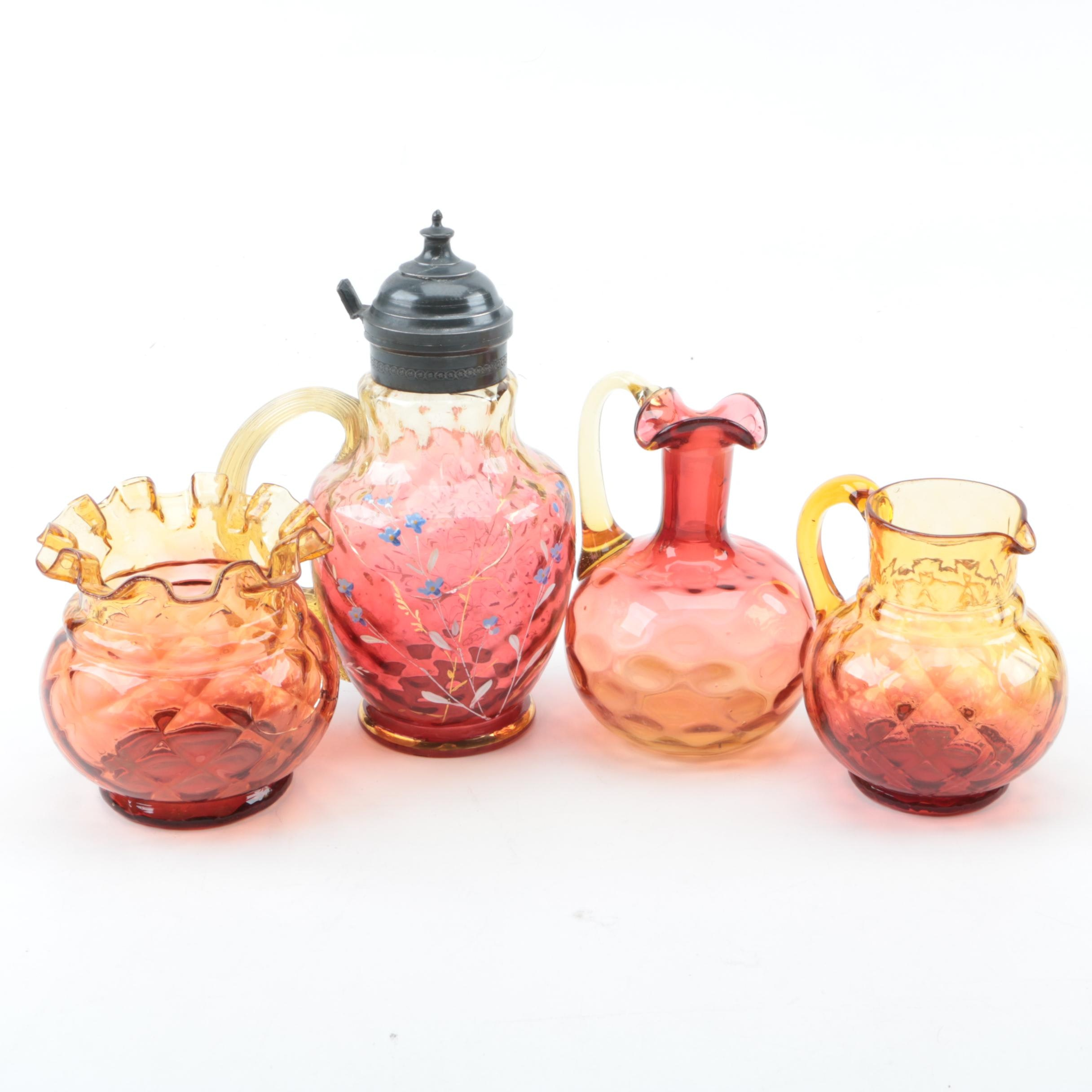 Antique and Vintage Amberina Glass