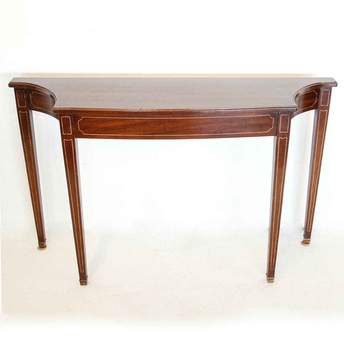 Davis Cabinet Company Inlaid Mahogany Console Table