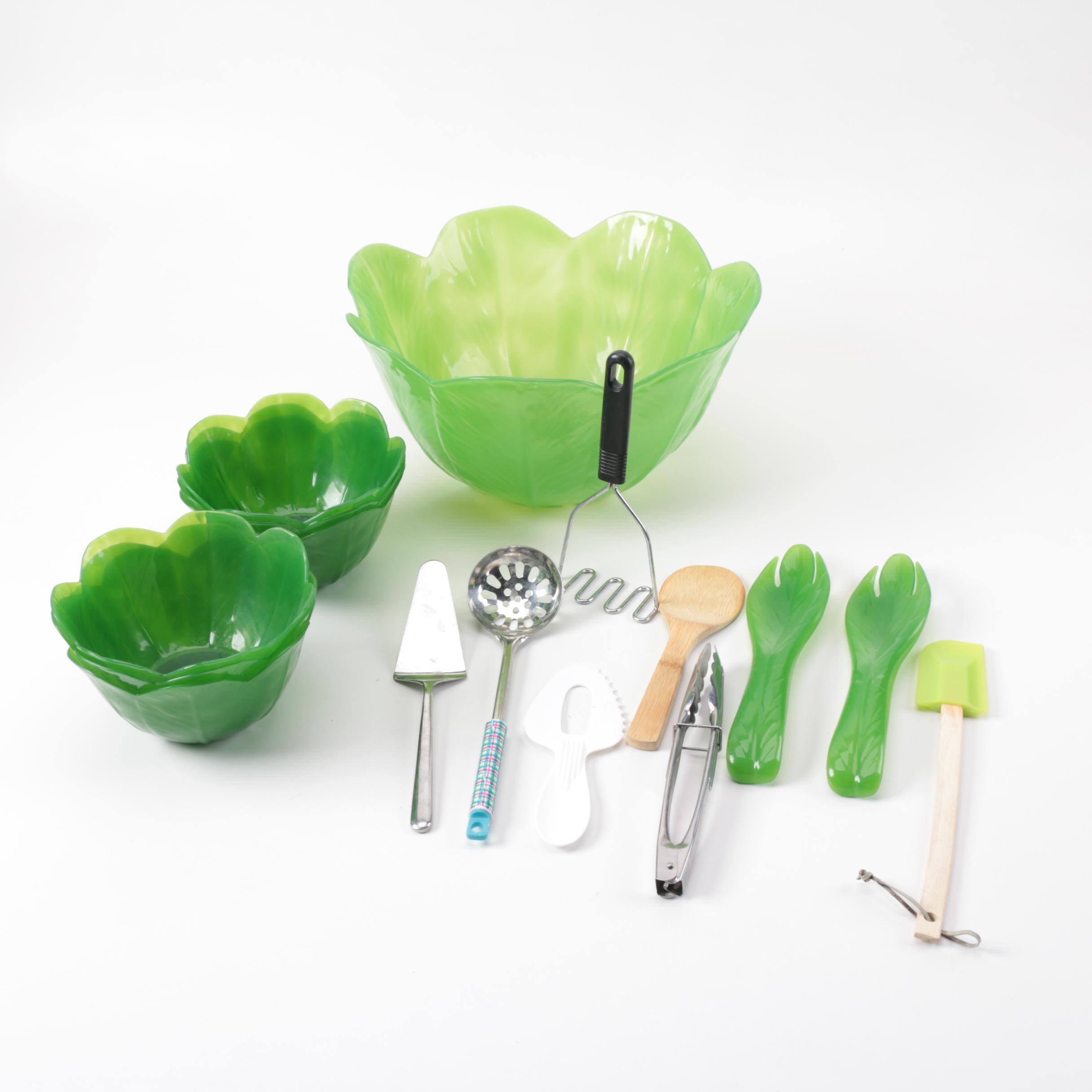 Precidio Cabbage Salad Bowl Set and Utensils